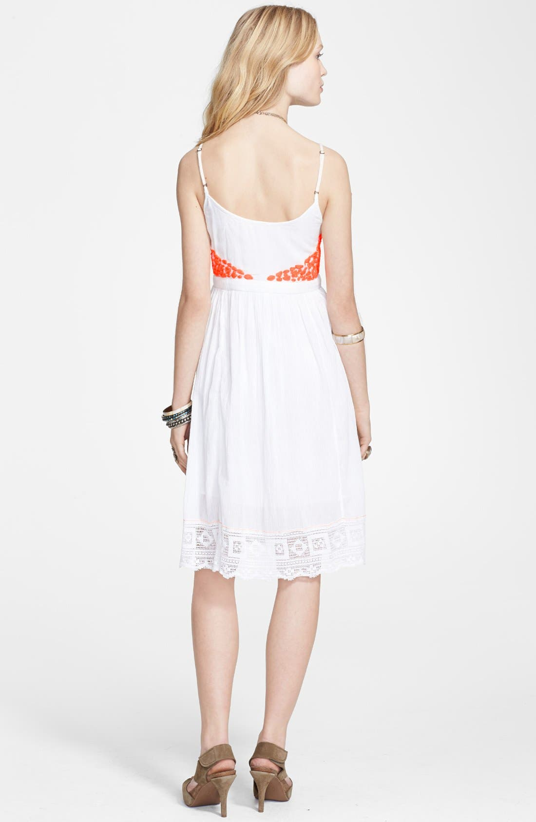 Alternate Image 2  - Free People 'Cloud Watching' Cotton Voile Babydoll Dress