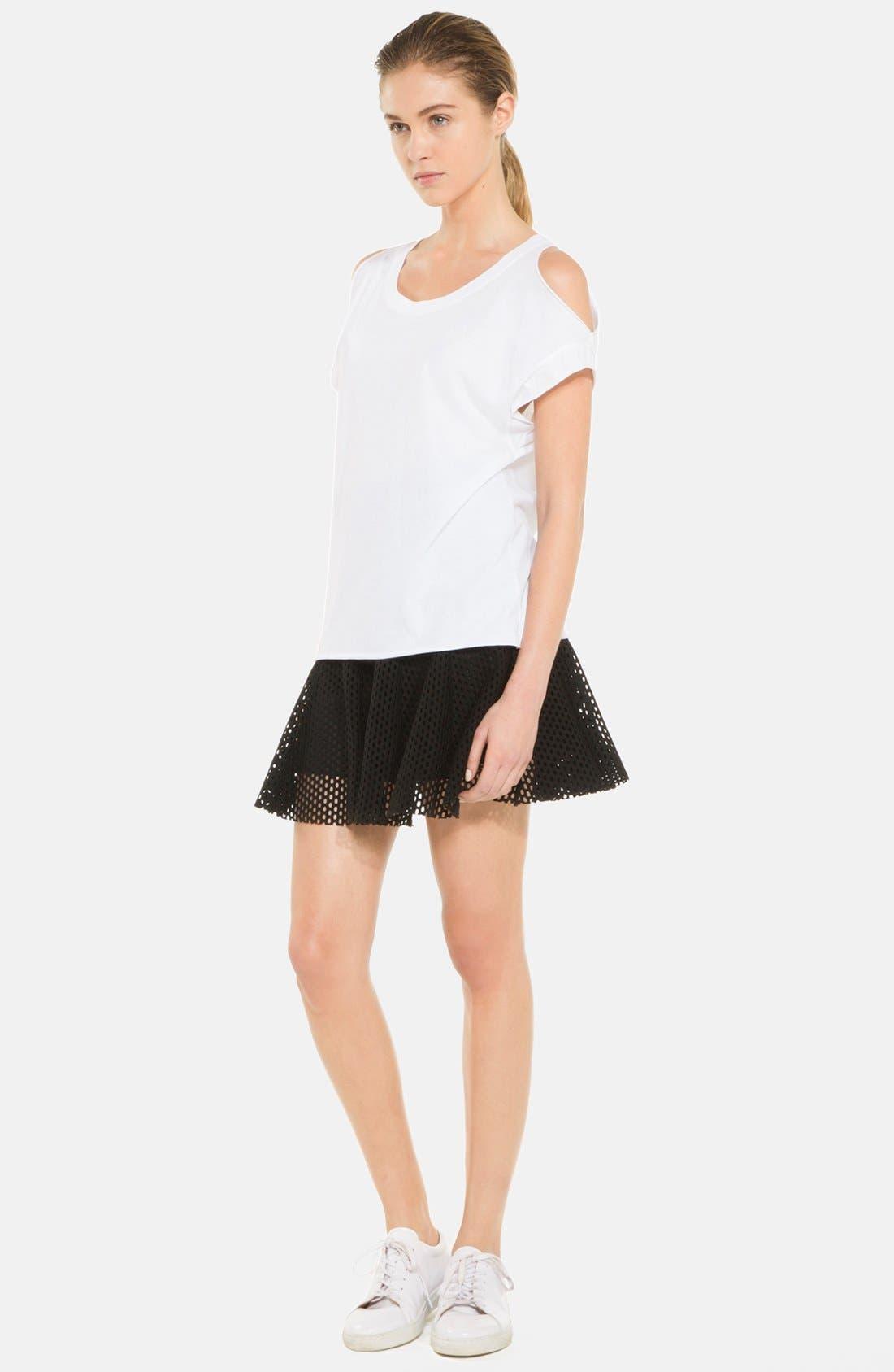Alternate Image 1 Selected - sandro 'Jackpot' Flare Mesh Skirt