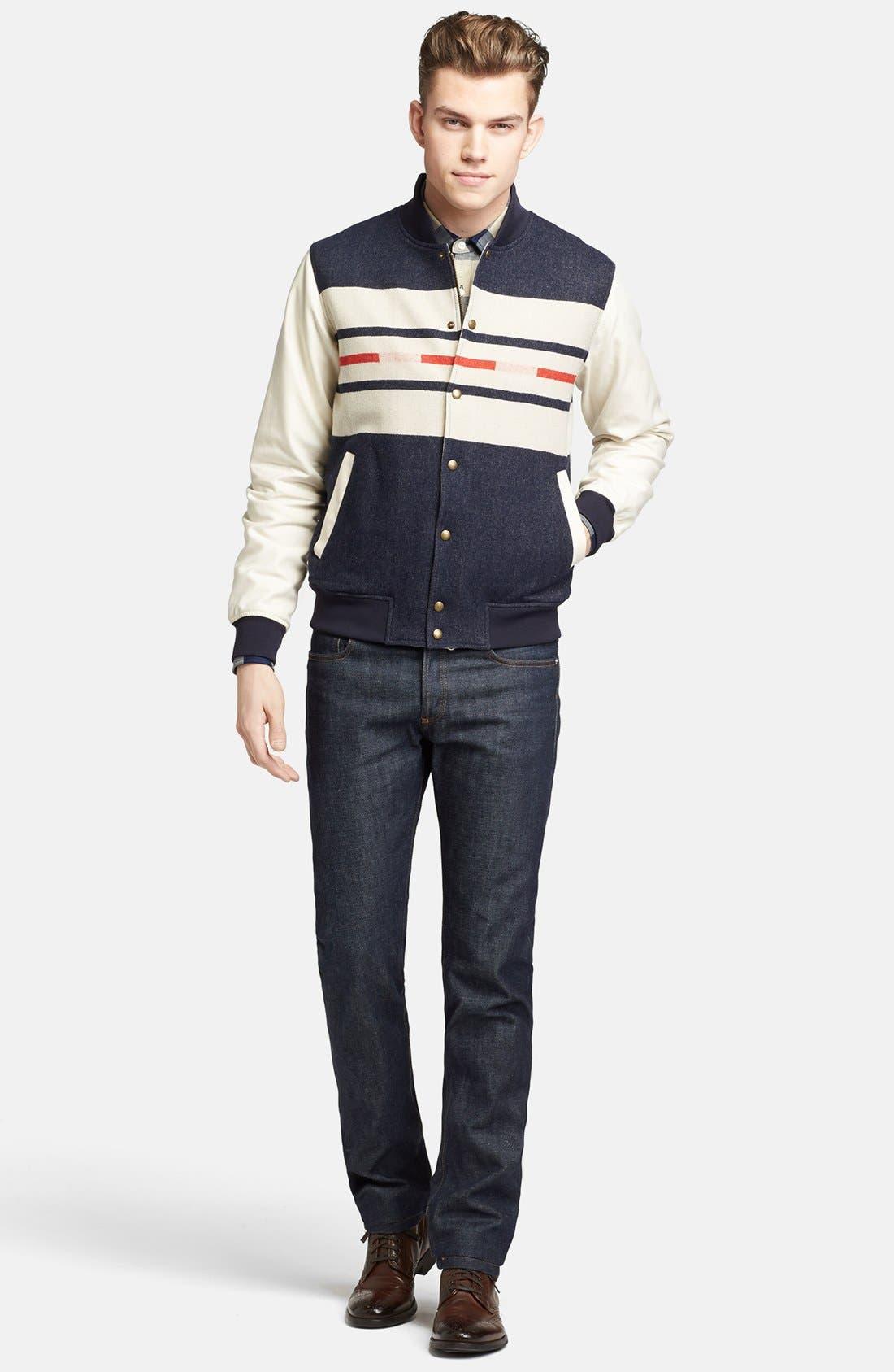 Alternate Image 4  - Pendleton Portland Collection 'Franklin' Camp Stripe Varsity Jacket