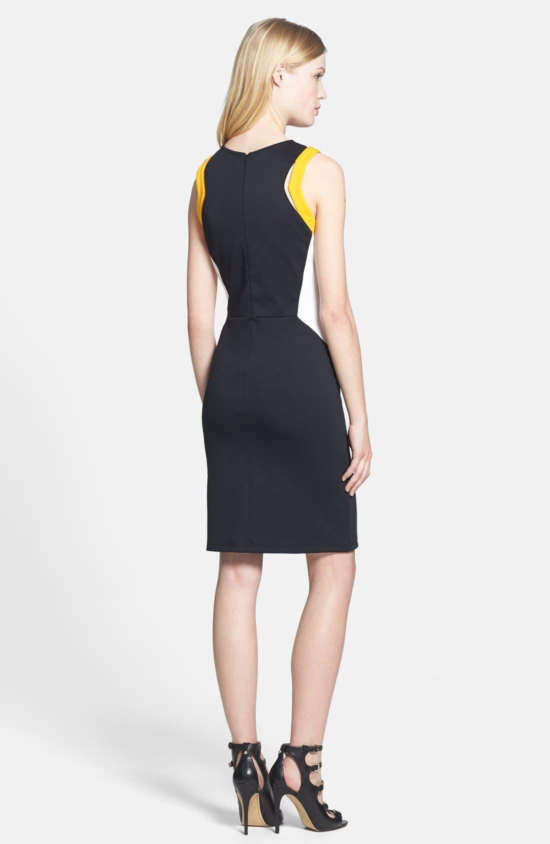 Alternate Image 2  - Trouvé Cutout Ponte Knit Sheath Dress