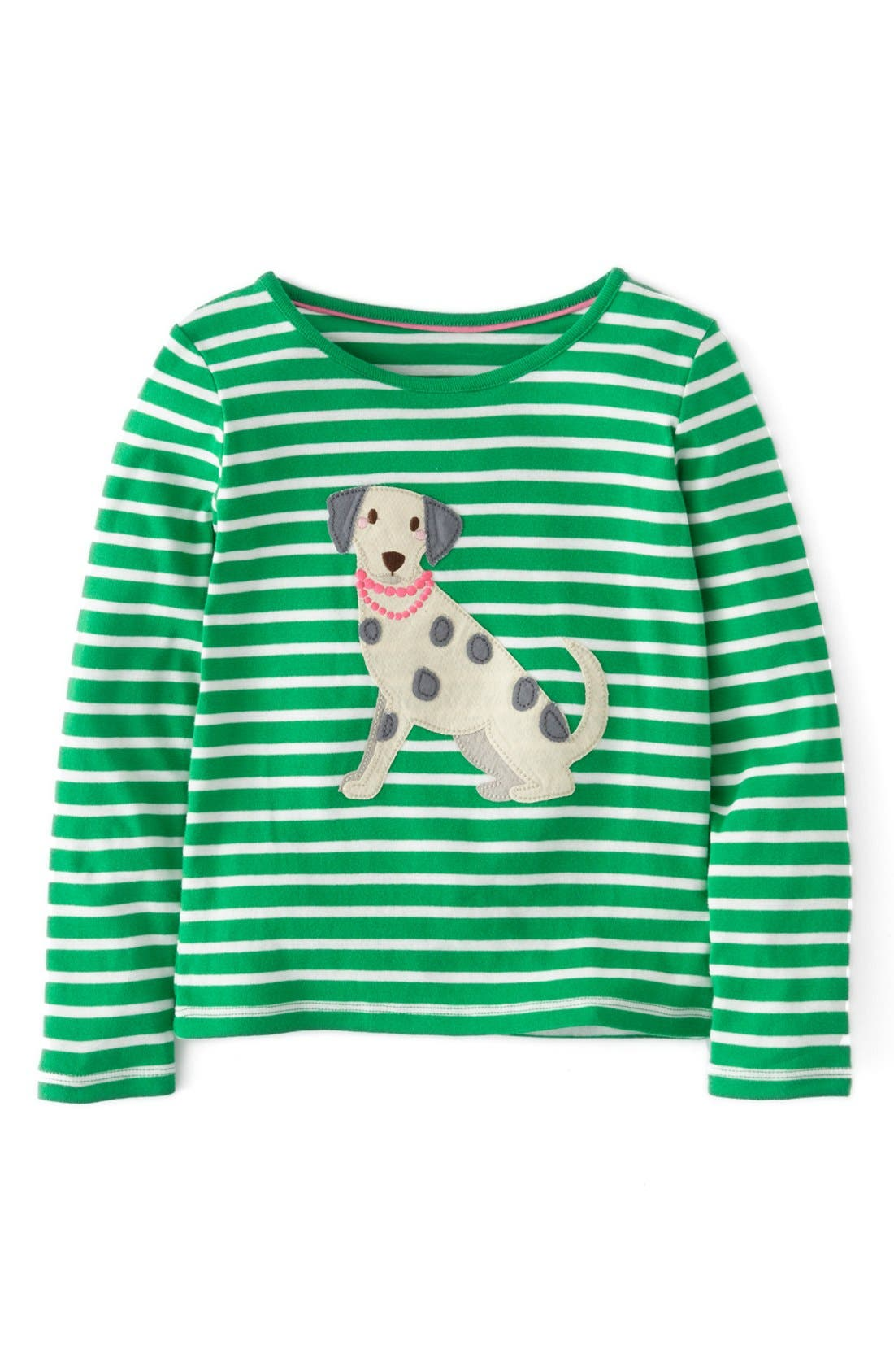 Main Image - Mini Boden 'Party Pet' Appliqué Tee (Little Girls & Big Girls)