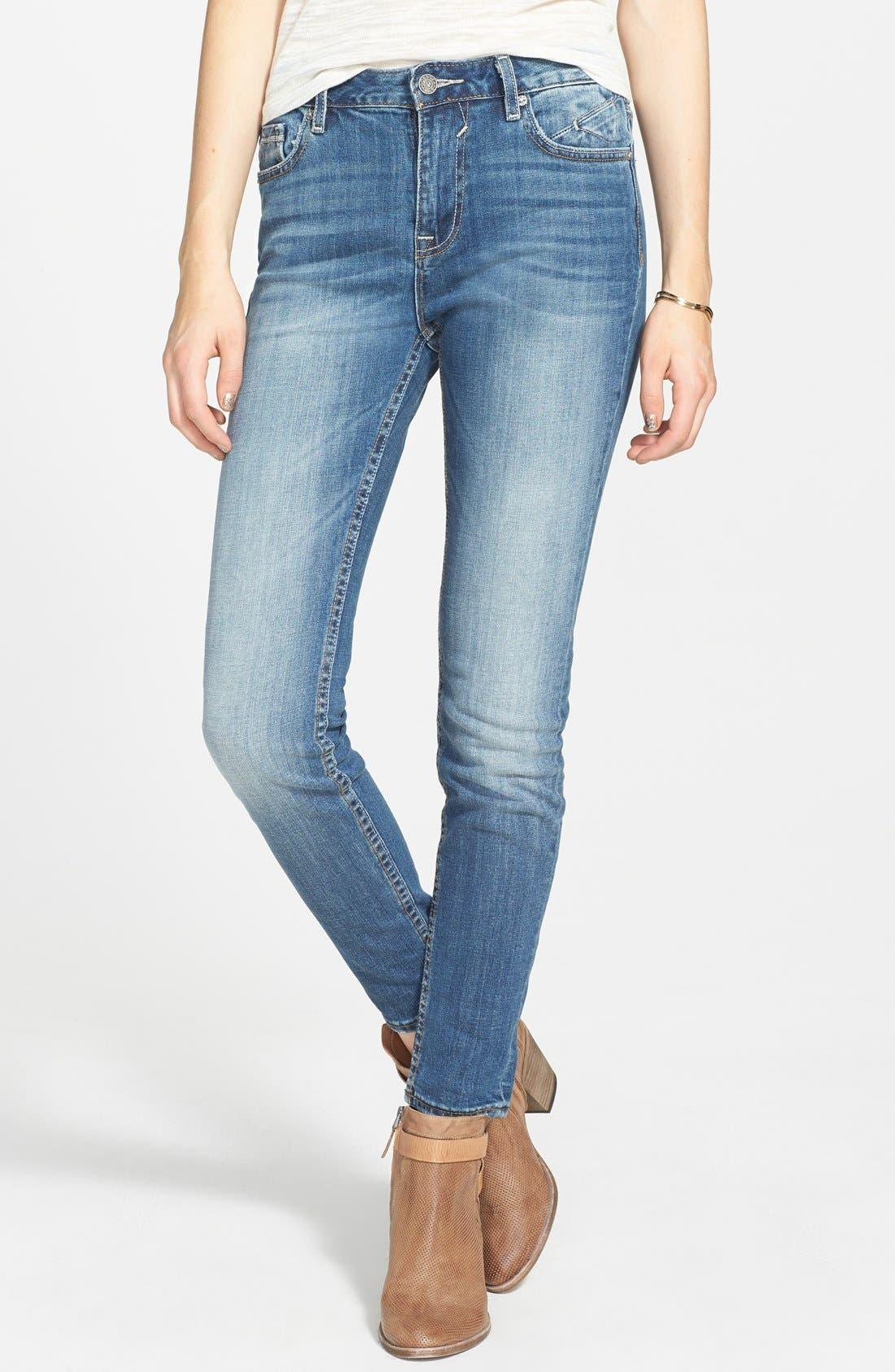 Alternate Image 1 Selected - Vigoss High Waist Skinny Jeans (Medium) (Juniors)