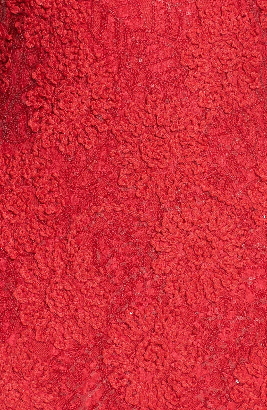 Alternate Image 4  - JS Boutique Racerback Sequin Lace Sheath Dress