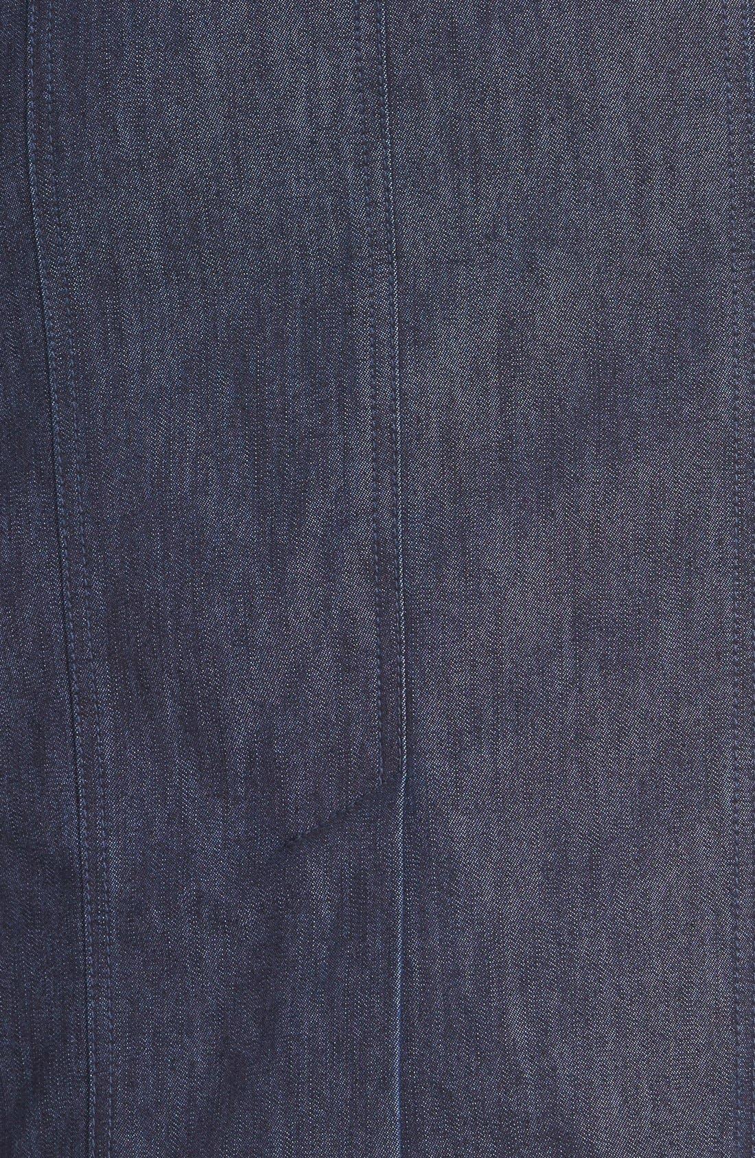 Alternate Image 3  - Halogen® Denim Pencil Skirt