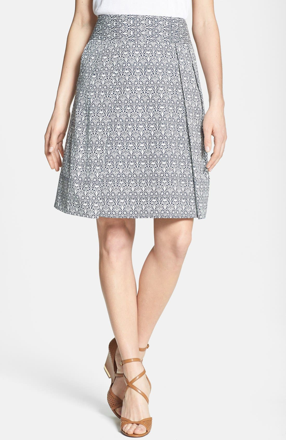 Alternate Image 1 Selected - Tory Burch 'Mila' Stretch Cotton Skirt