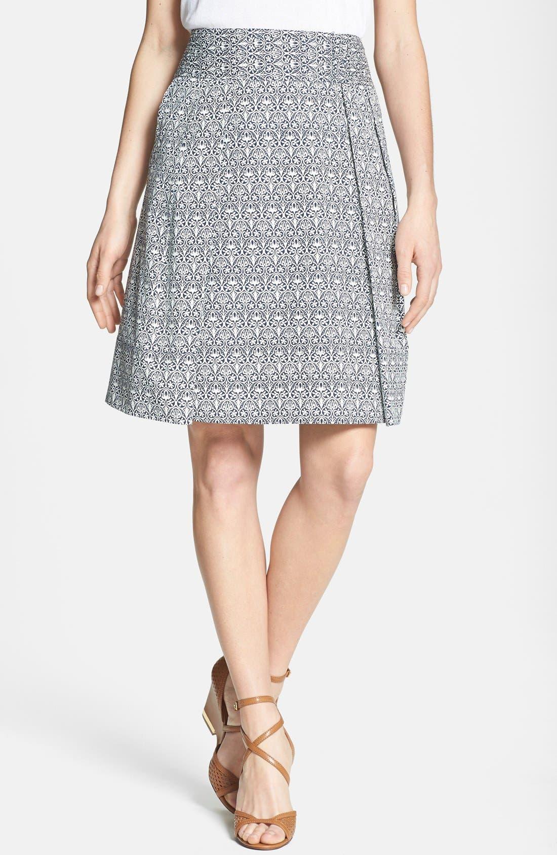 Main Image - Tory Burch 'Mila' Stretch Cotton Skirt