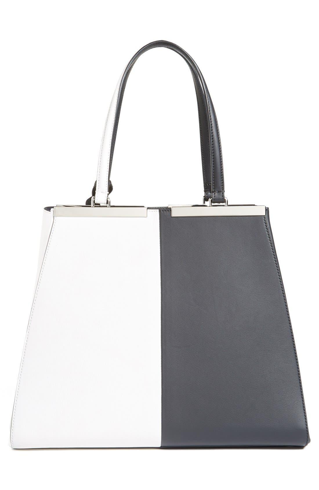 Alternate Image 4  - Fendi '3Jours - Computer' Leather Shopper