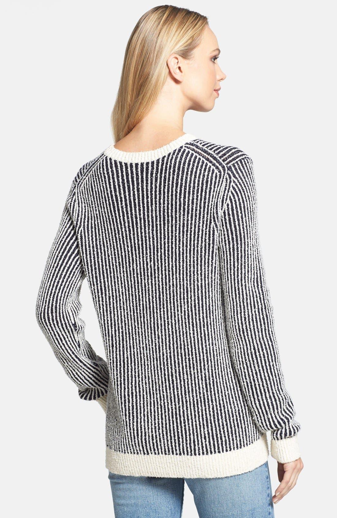 Alternate Image 2  - Theory 'Jaidyn SN' Textured Stripe Sweater