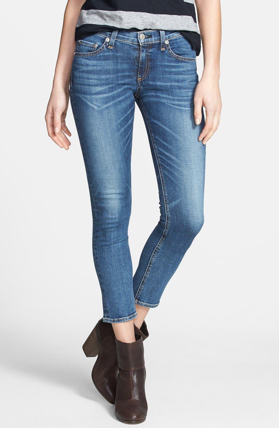Alternate Image 1 Selected - rag & bone/JEAN Crop Skinny Jeans (Sonoma)