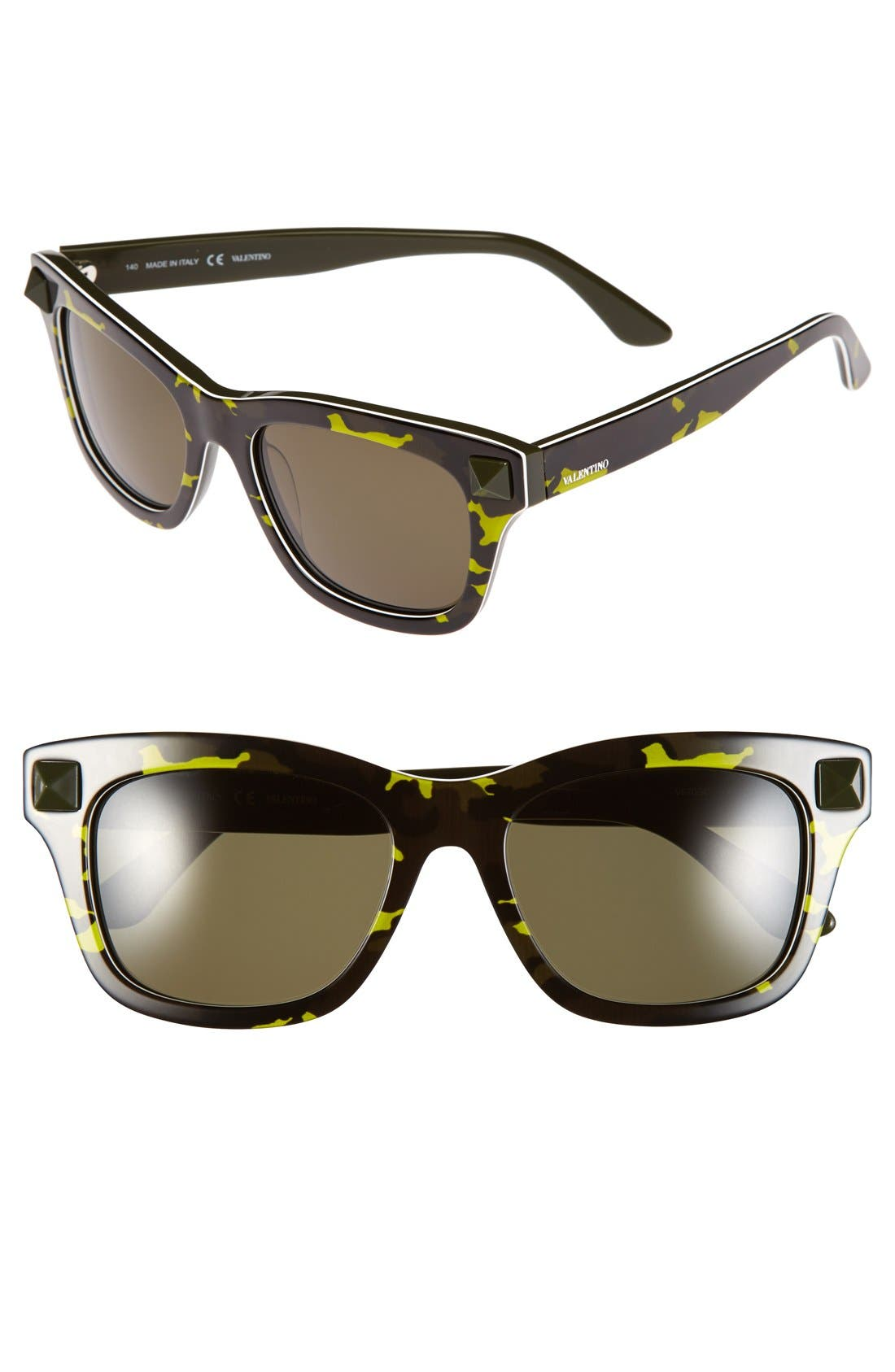 Main Image - Valentino 'Rockstud' 53mm Retro Sunglasses