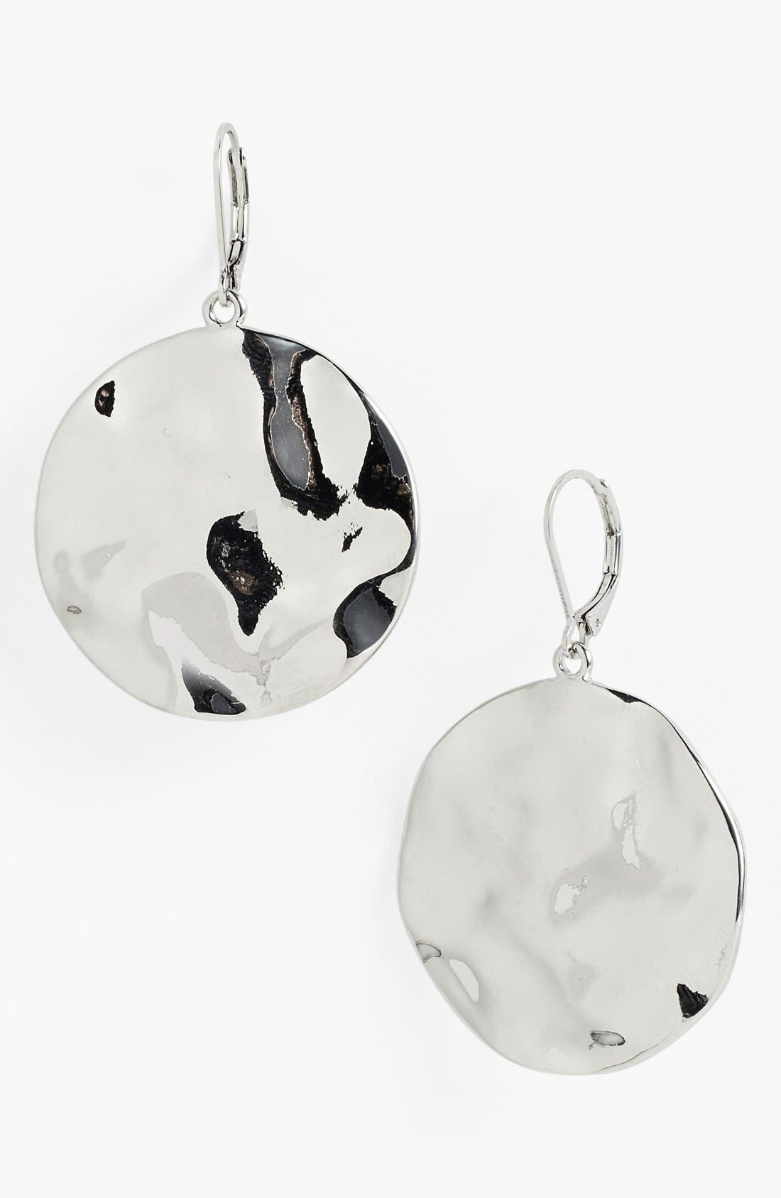 Alternate Image 1 Selected - Nordstrom 'Gold Water' Hammered Disc Drop Earrings