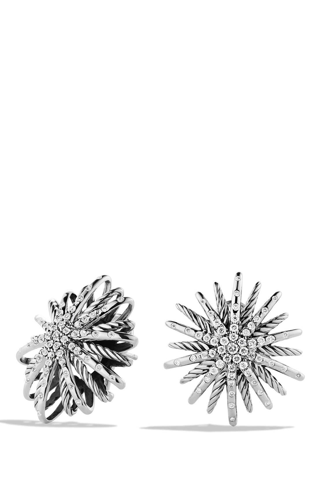 Alternate Image 1 Selected - David Yurman 'Starburst' Earrings with Diamonds