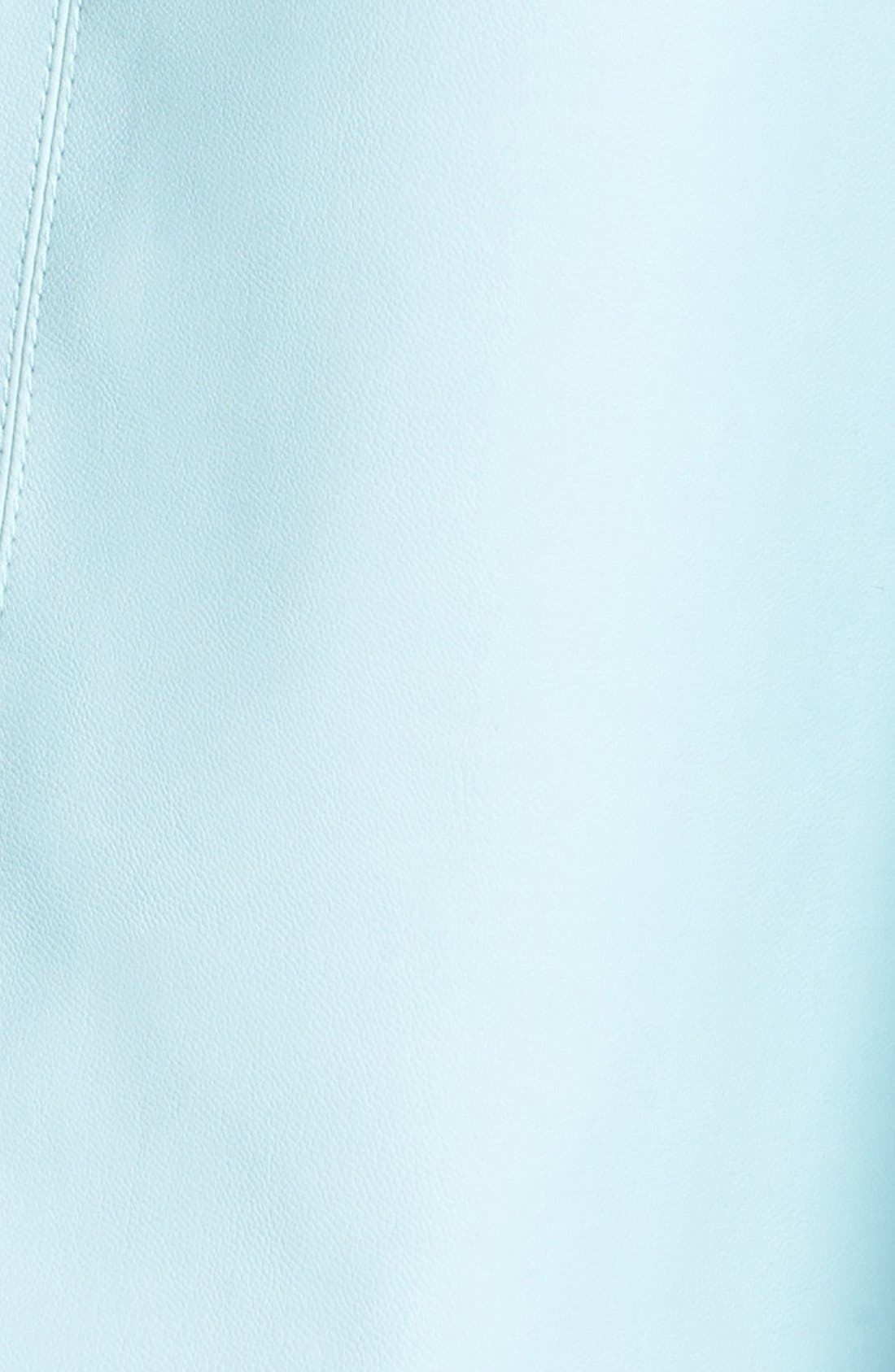 Alternate Image 4  - ASTR Faux Leather A-Line Midi Skirt