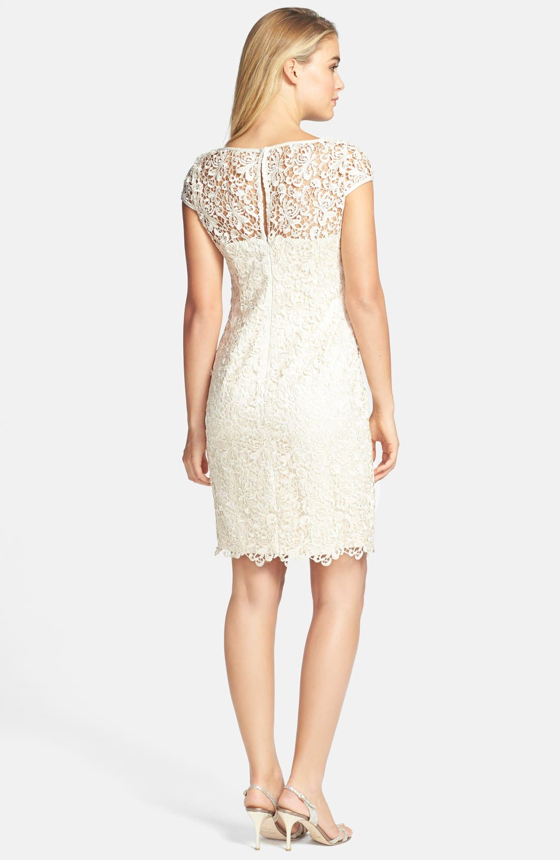 Alternate Image 2  - Adrianna Papell Lace Shift Dress