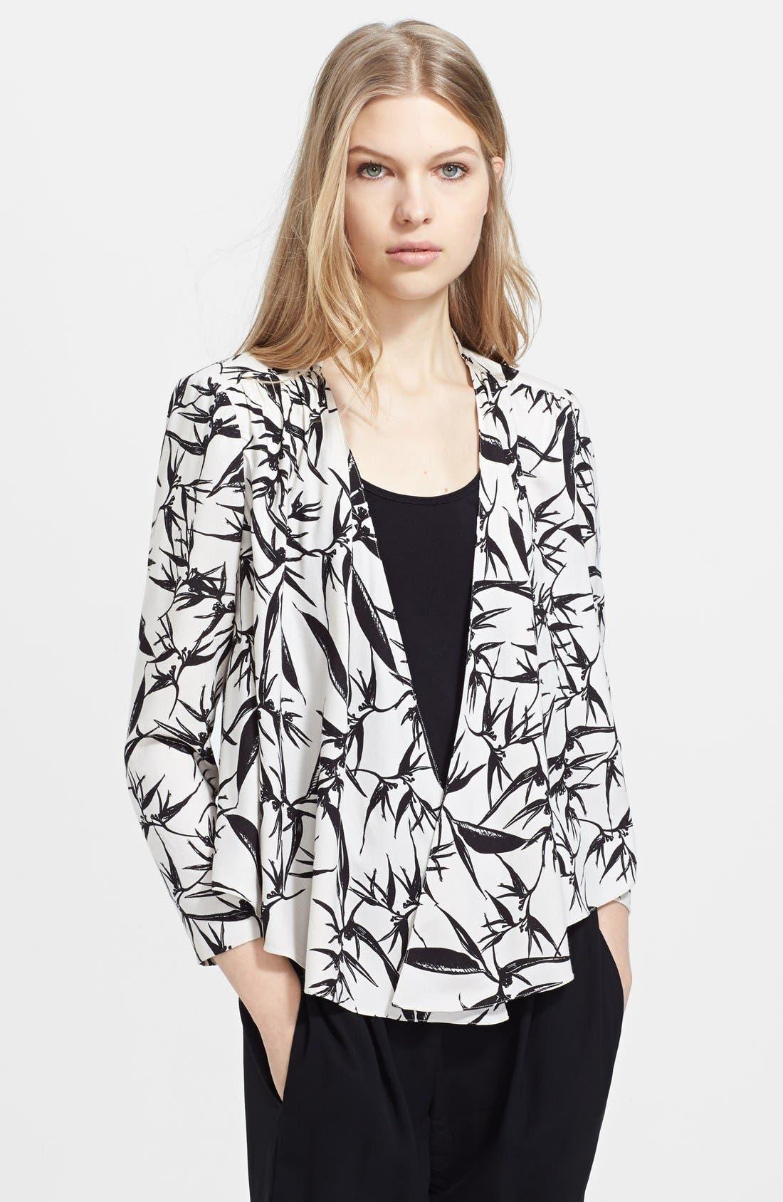 Main Image - Alice + Olivia 'Vanna' Print Drape Jacket