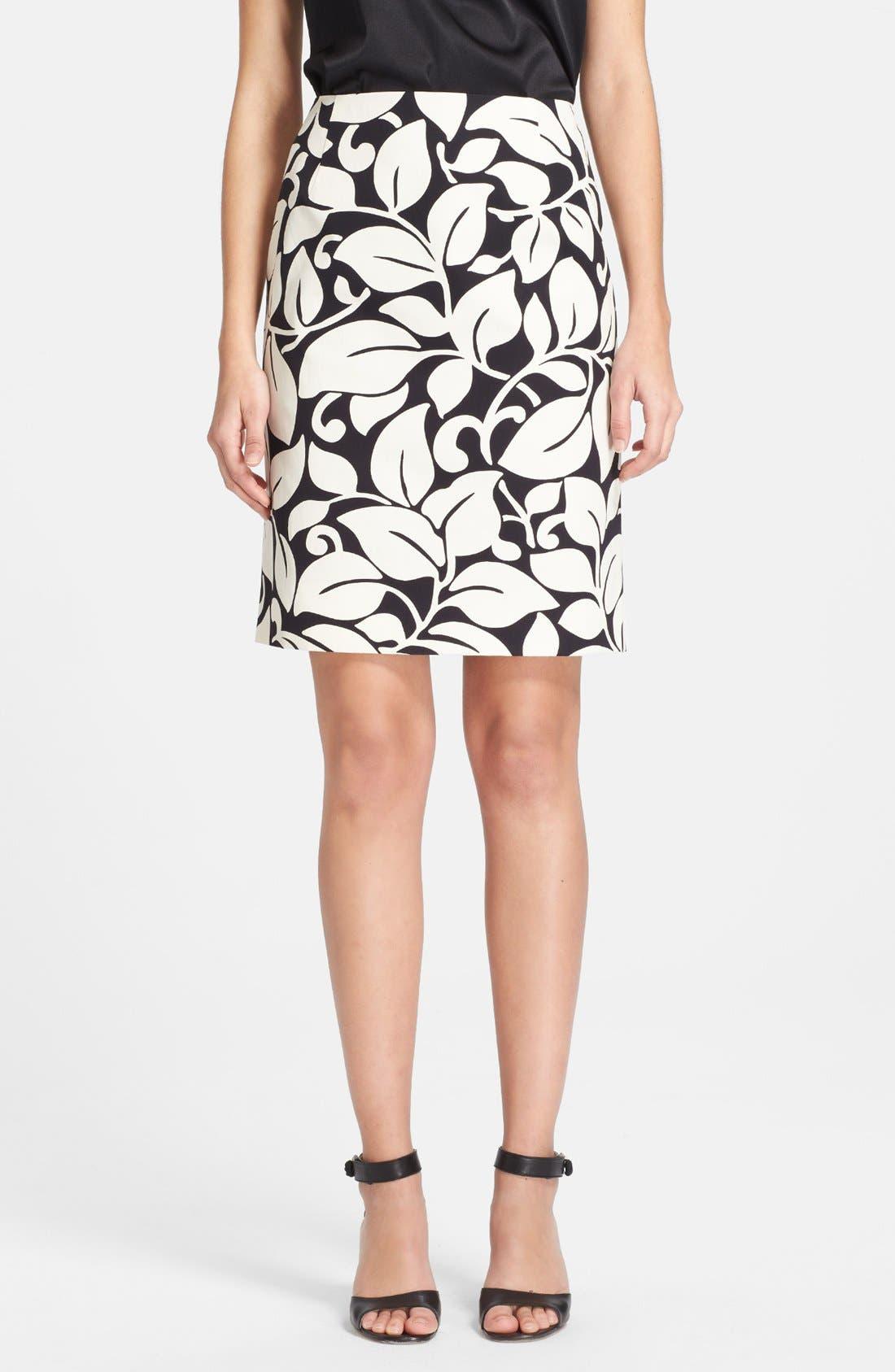 Alternate Image 1 Selected - MARC JACOBS Print Cotton Pencil Skirt