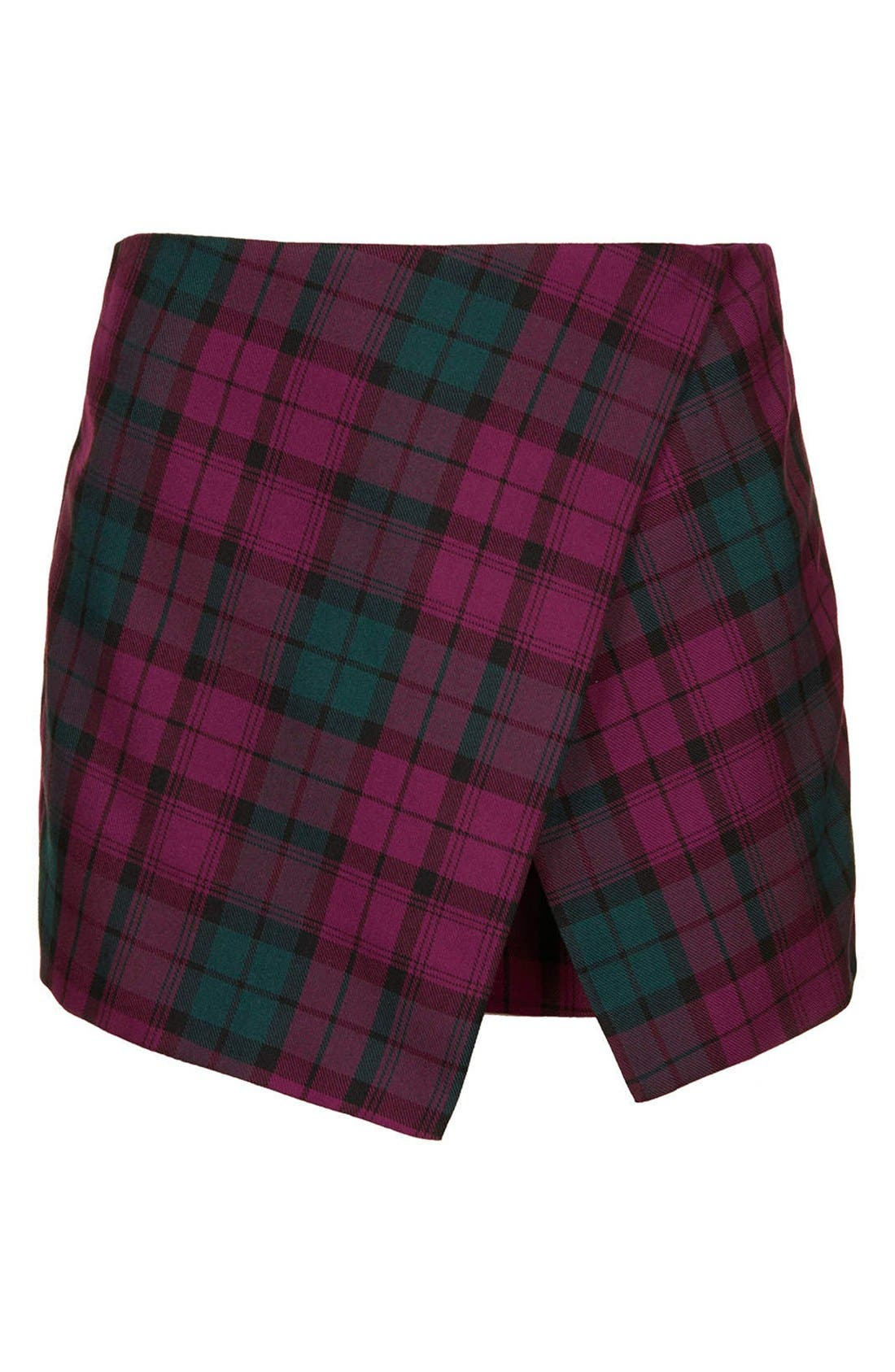 Alternate Image 3  - Topshop Tartan Plaid Skort (Petite)