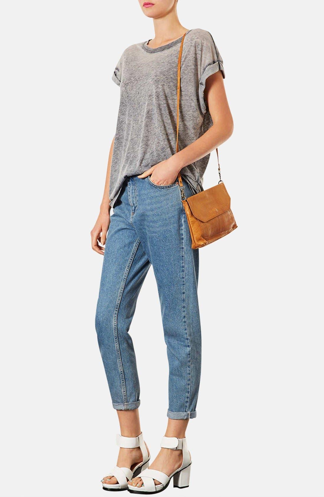 Alternate Image 2  - Topshop Textured Leather Crossbody Bag