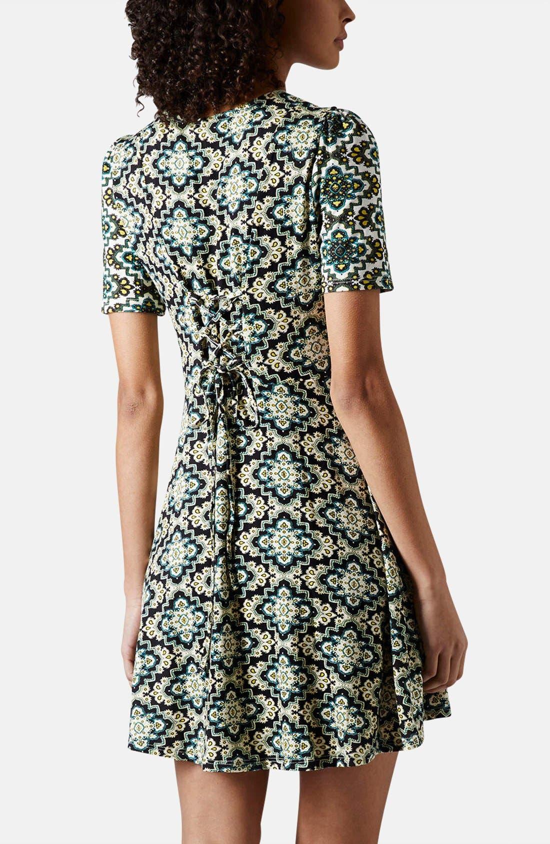 Alternate Image 2  - Topshop 'Emma' Folk Print Jersey Dress