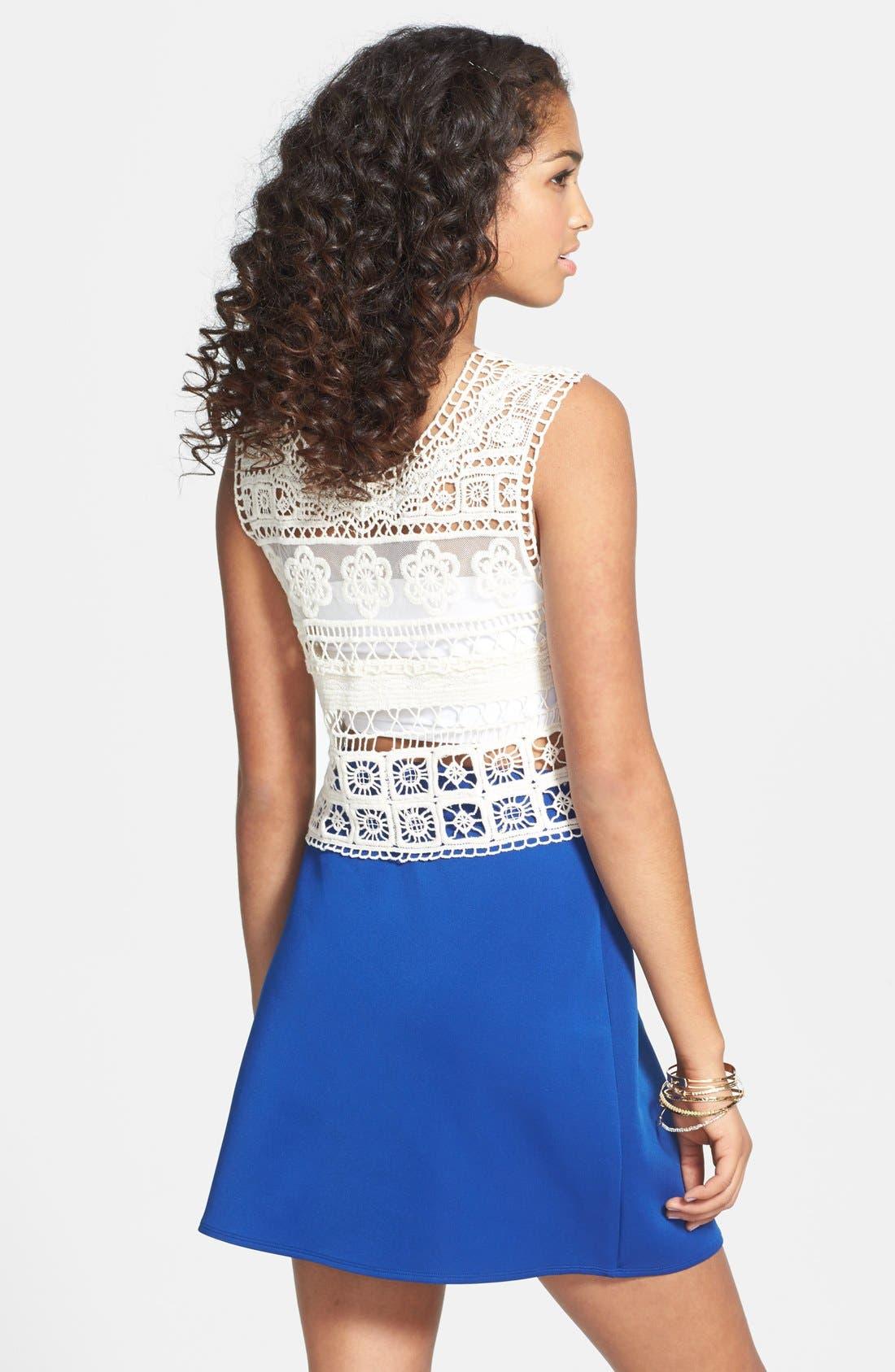 Alternate Image 2  - Frenchi® Knit A-Line Skirt (Juniors)