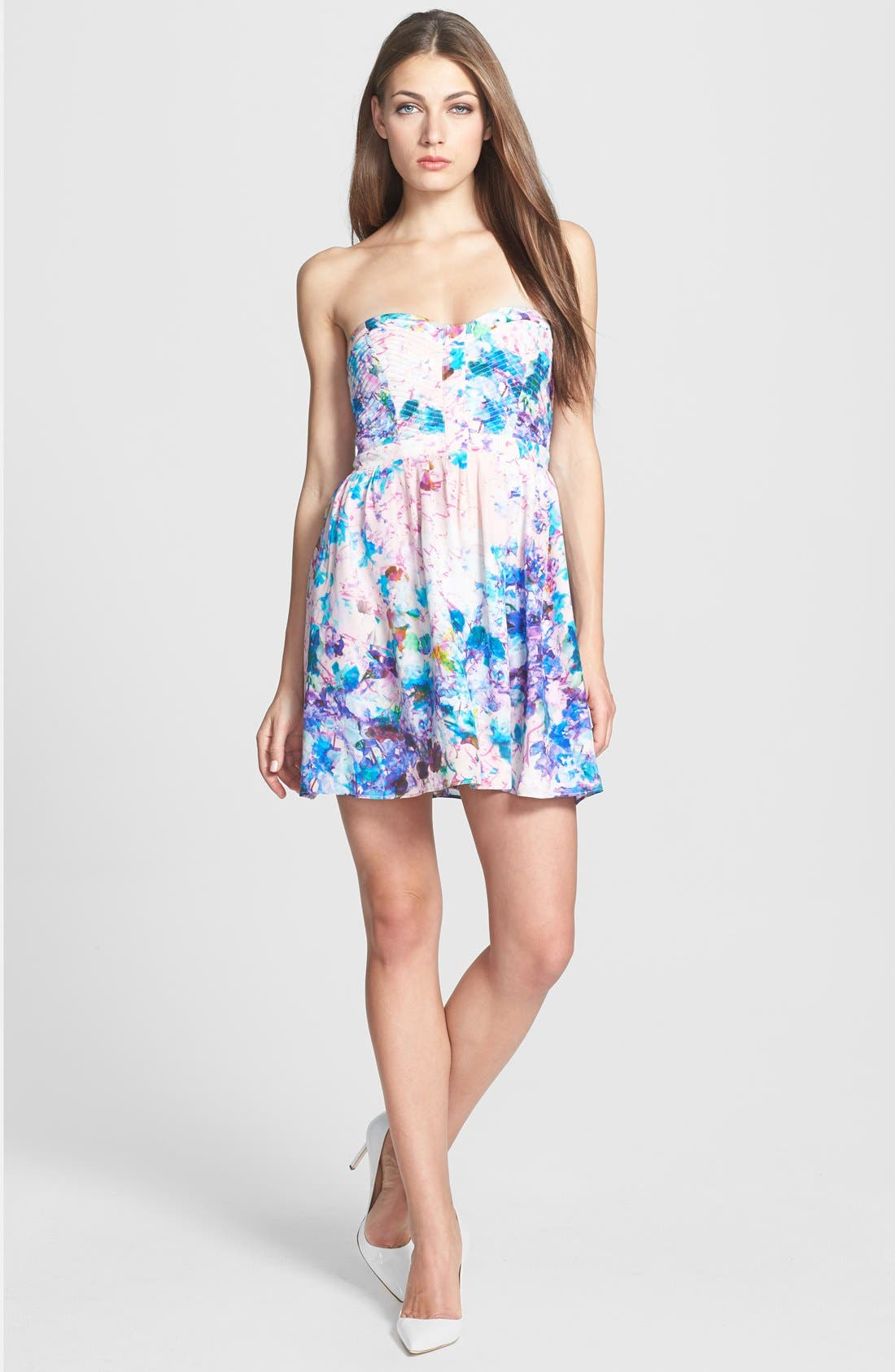 Main Image - Parker 'Lily' Print Silk Fit & Flare Dress