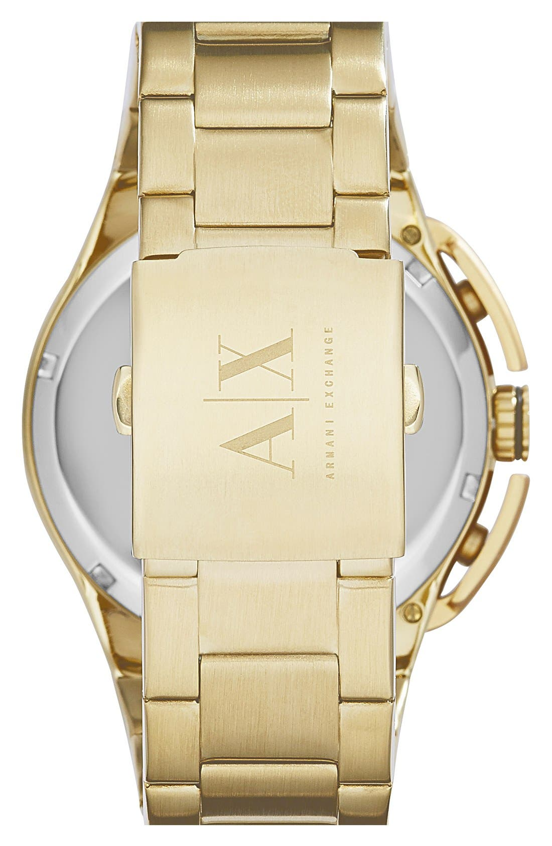 Alternate Image 2  - AX Armani Exchange Aluminum Accent Bracelet Watch, 45mm