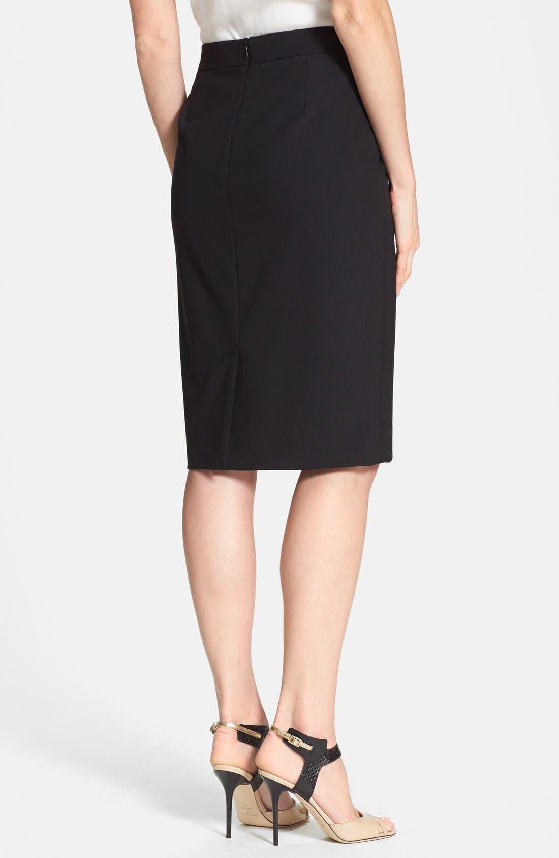 Alternate Image 2  - Classiques Entier® 'Jolie' Diagonal Seam Stretch Skirt