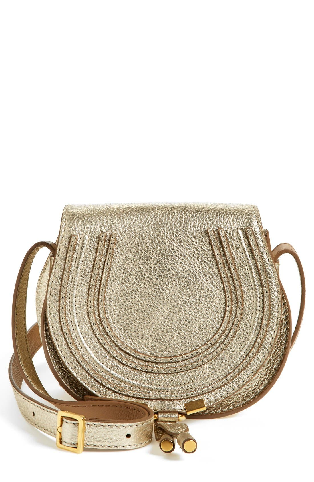 Main Image - Chloé 'Marcie - Small' Leather Crossbody Bag
