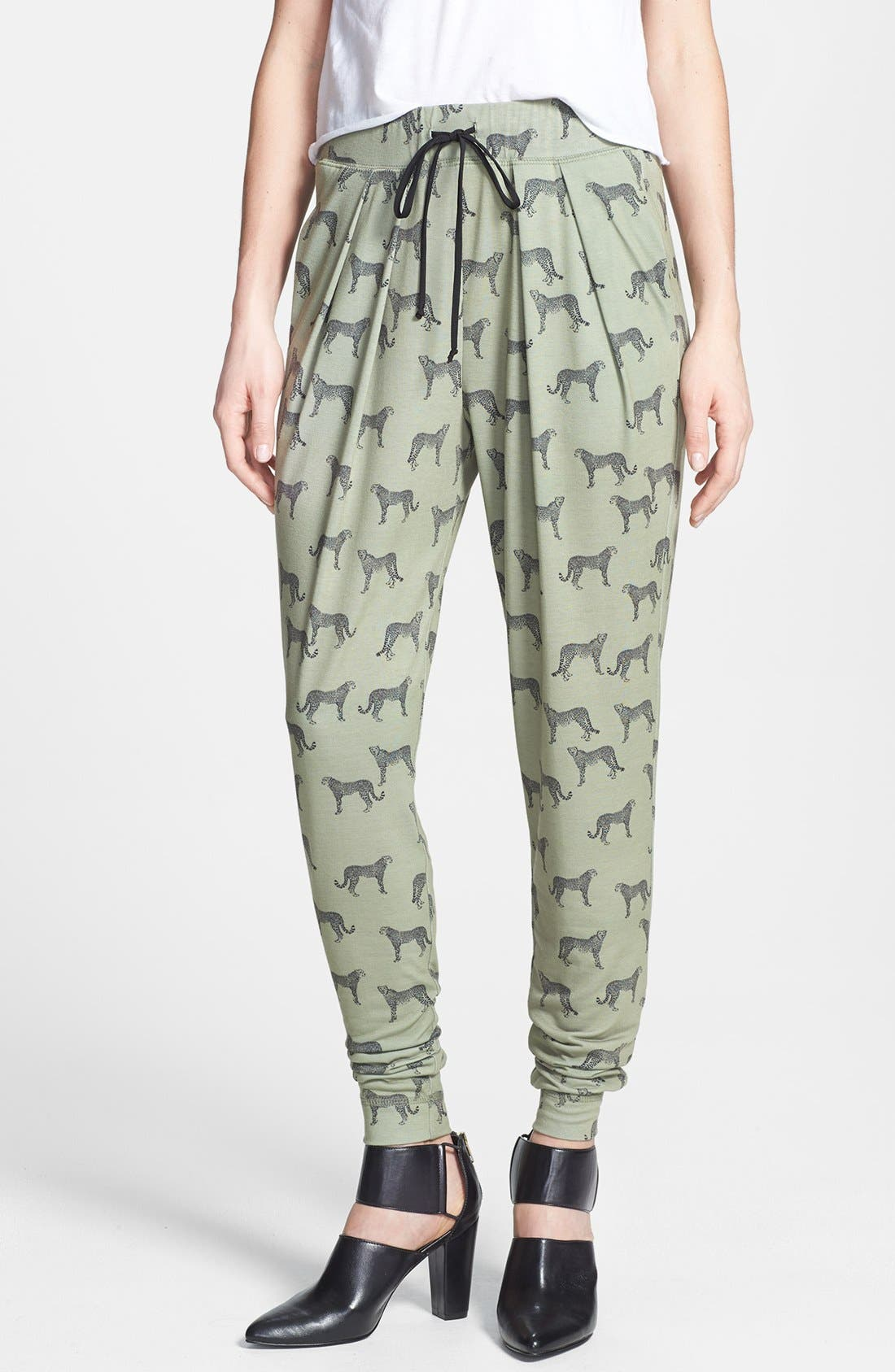 Main Image - Wayf Jaguar Print Knit Track Pants