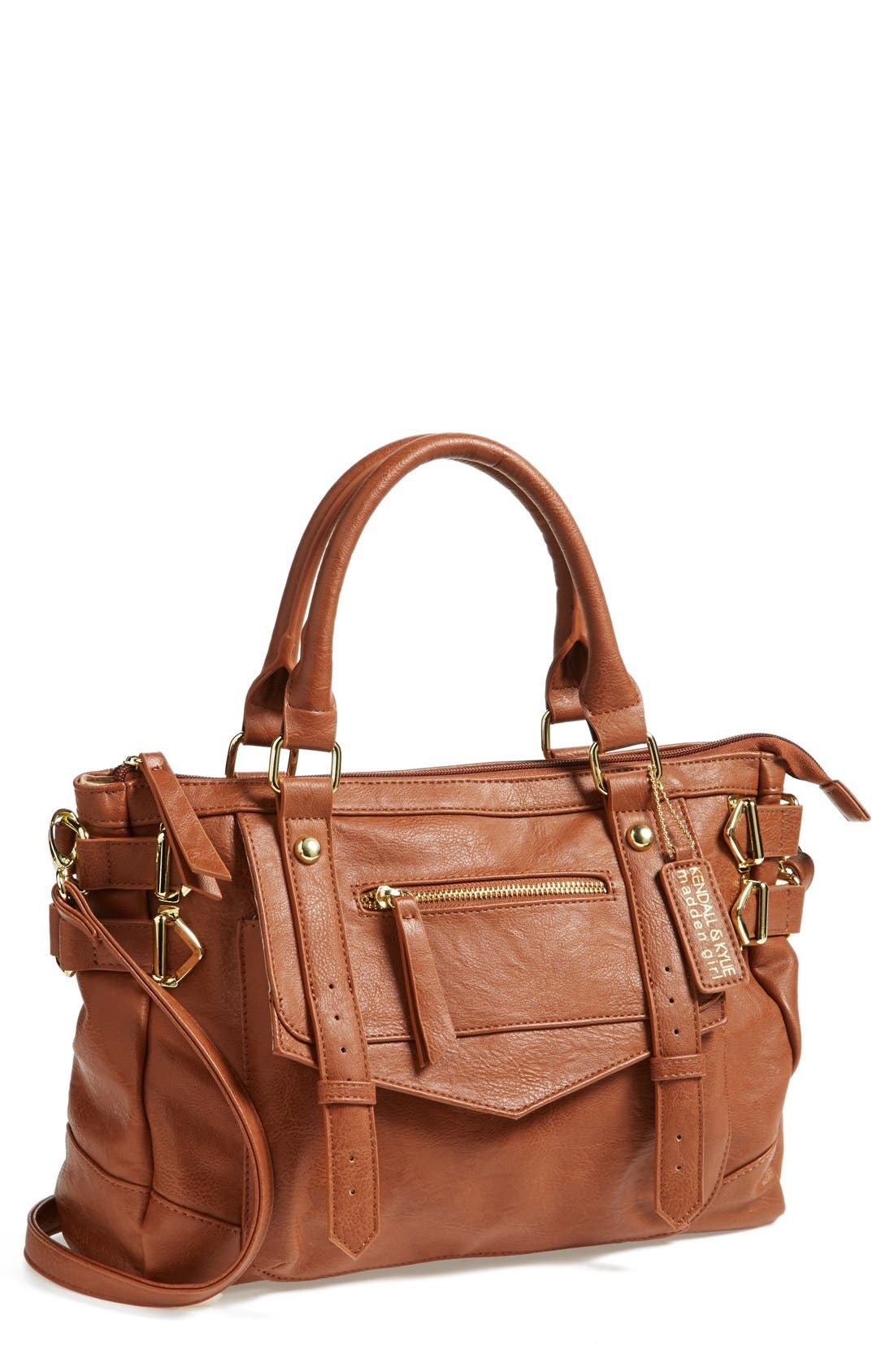 Main Image - KENDALL + KYLIE Madden Girl Faux Leather Satchel (Juniors)