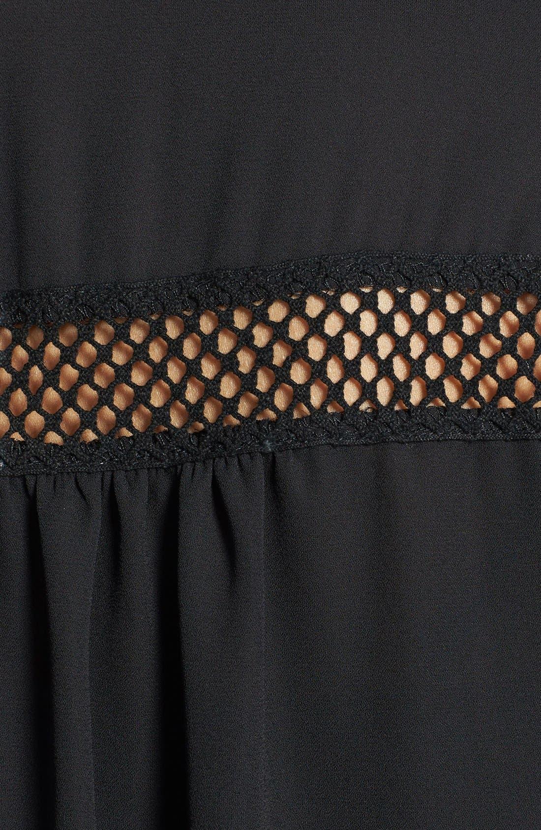 Alternate Image 3  - Sunday in Brooklyn Crochet Trim Roll-Tab Sleeve Shirt (Petite)