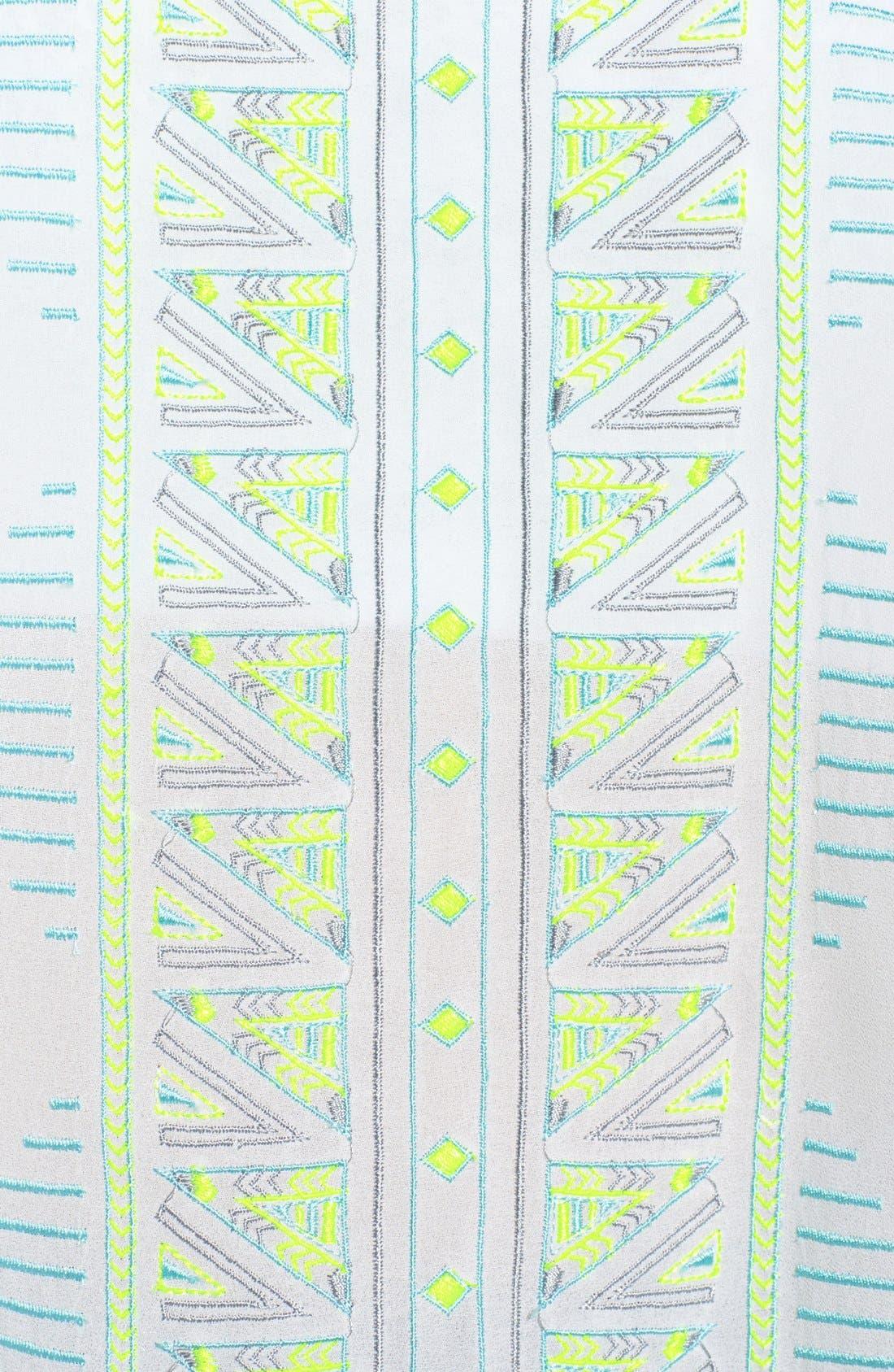 Alternate Image 3  - Lush Embroidered Woven Tank (Juniors)