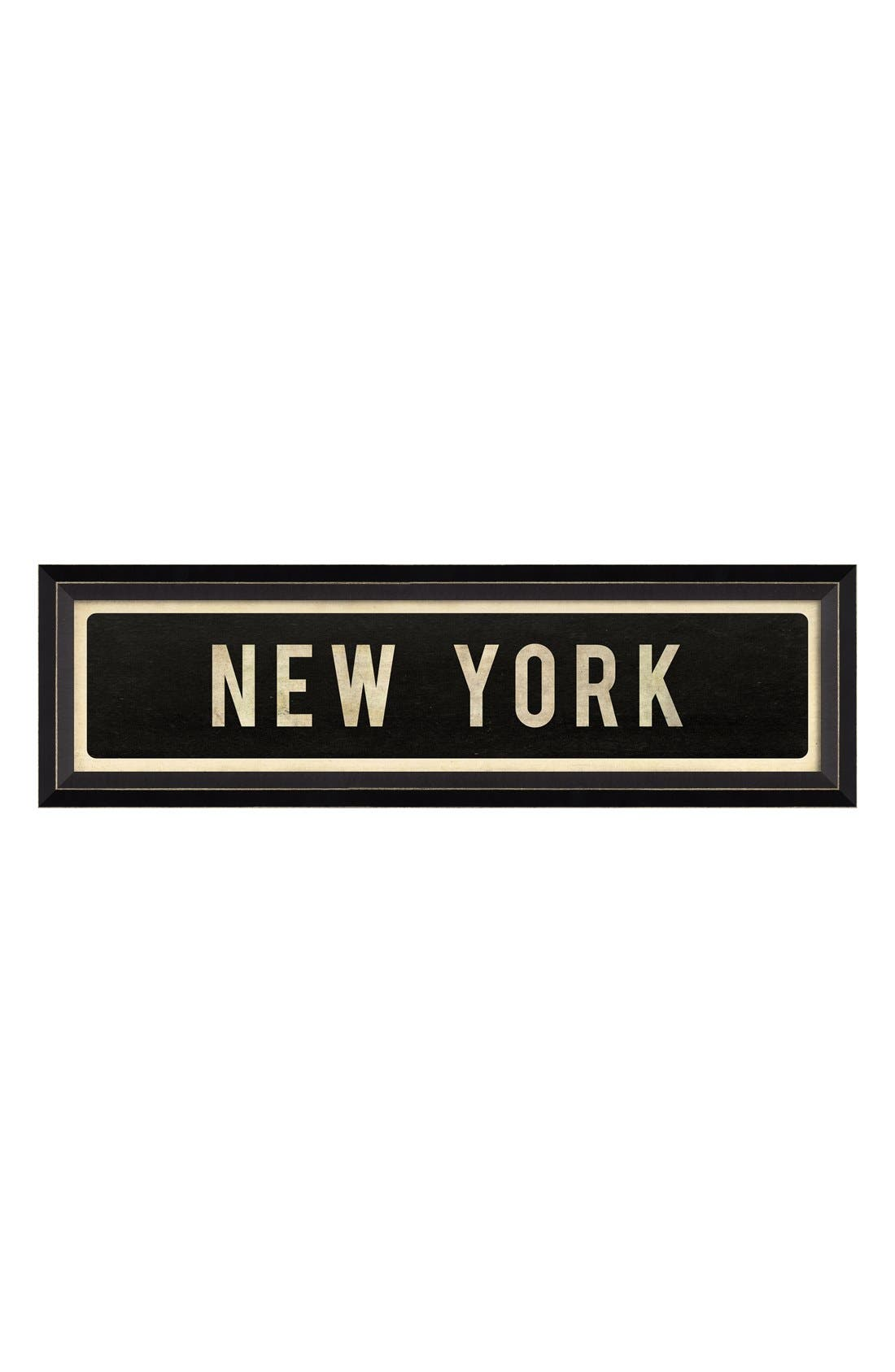 Main Image - Spicher and Company 'New York' Vintage Look Street Sign Artwork