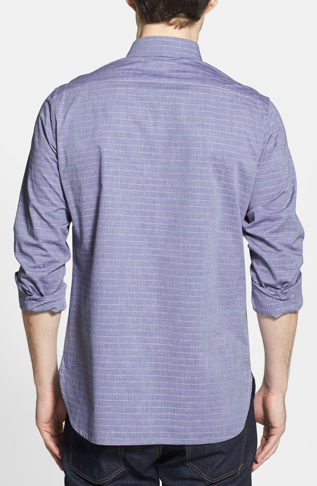 Alternate Image 2  - French Connection 'Folklore' Chambray Slim Fit Sport Shirt