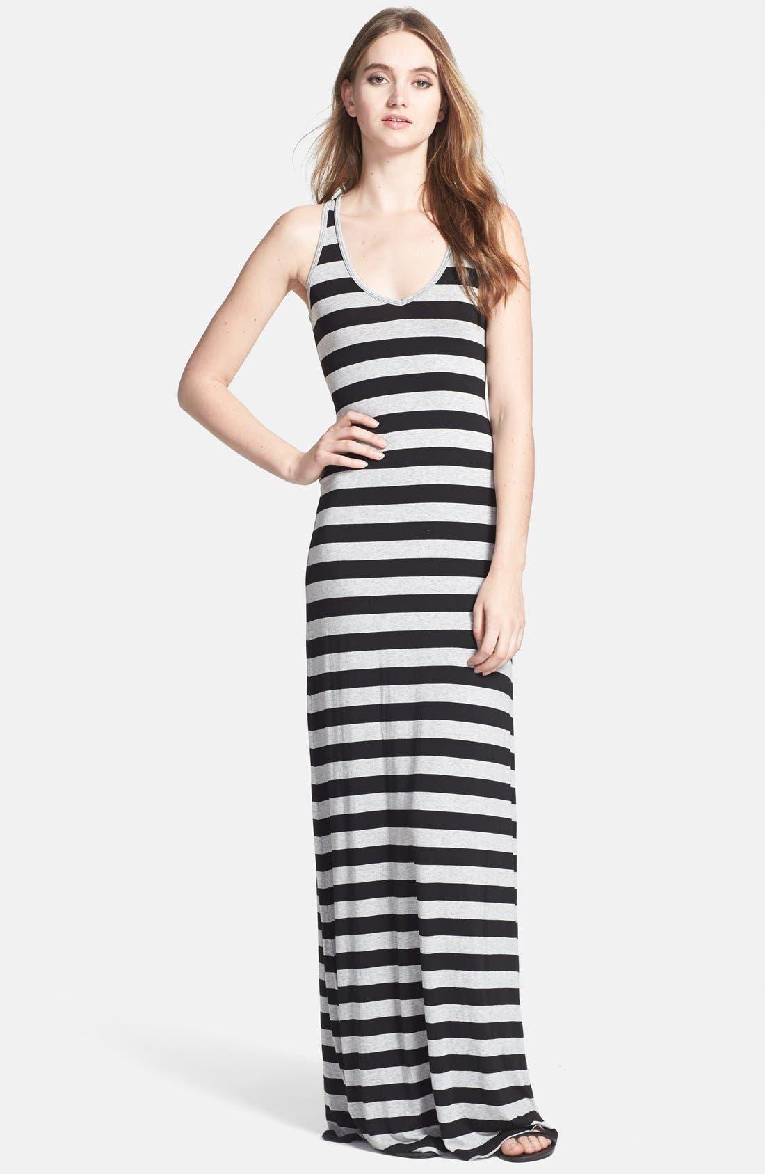 Main Image - Feel the Piece Racerback Stripe Maxi Dress