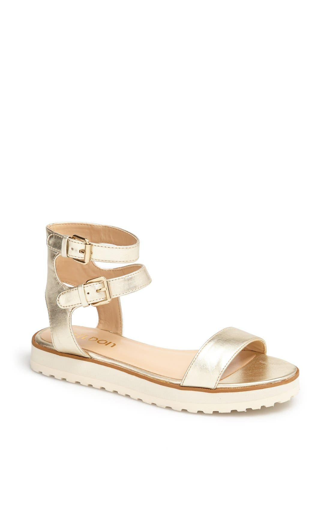 Alternate Image 1 Selected - Tildon 'Manda' Platform Ankle Strap Sandal