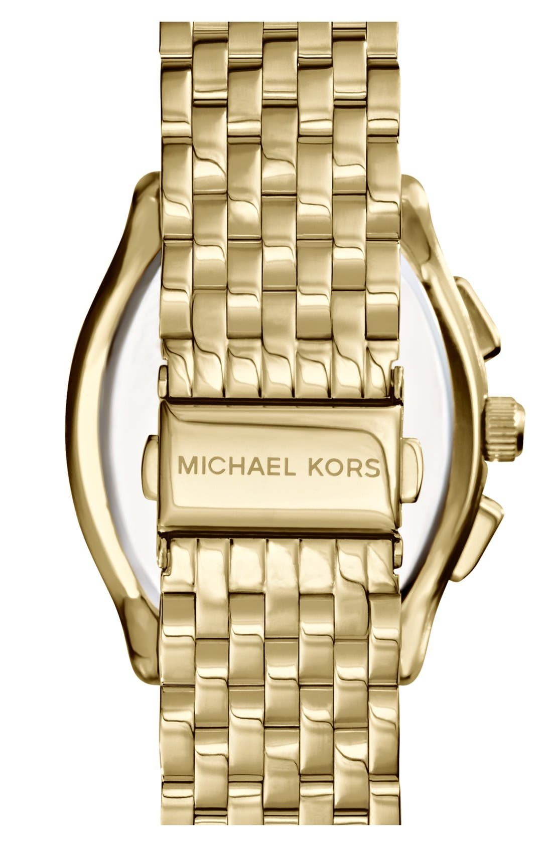 Alternate Image 3  - Michael Kors 'Amherst' Crystal Bezel Chronograph Bracelet Watch, 38mm