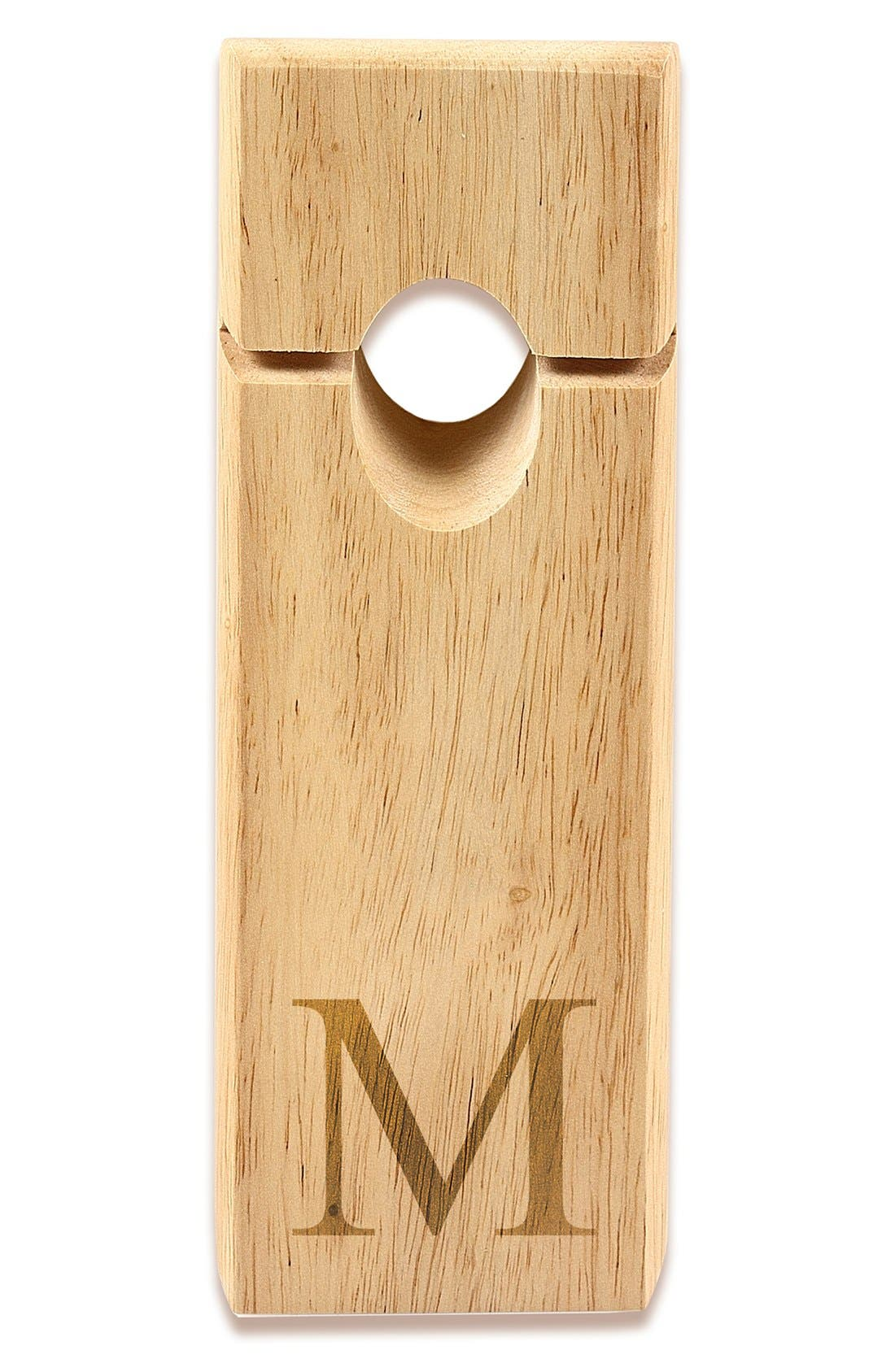 Alternate Image 2  - Cathy's Concepts Monogram Counter Balance Wine Bottle Holder