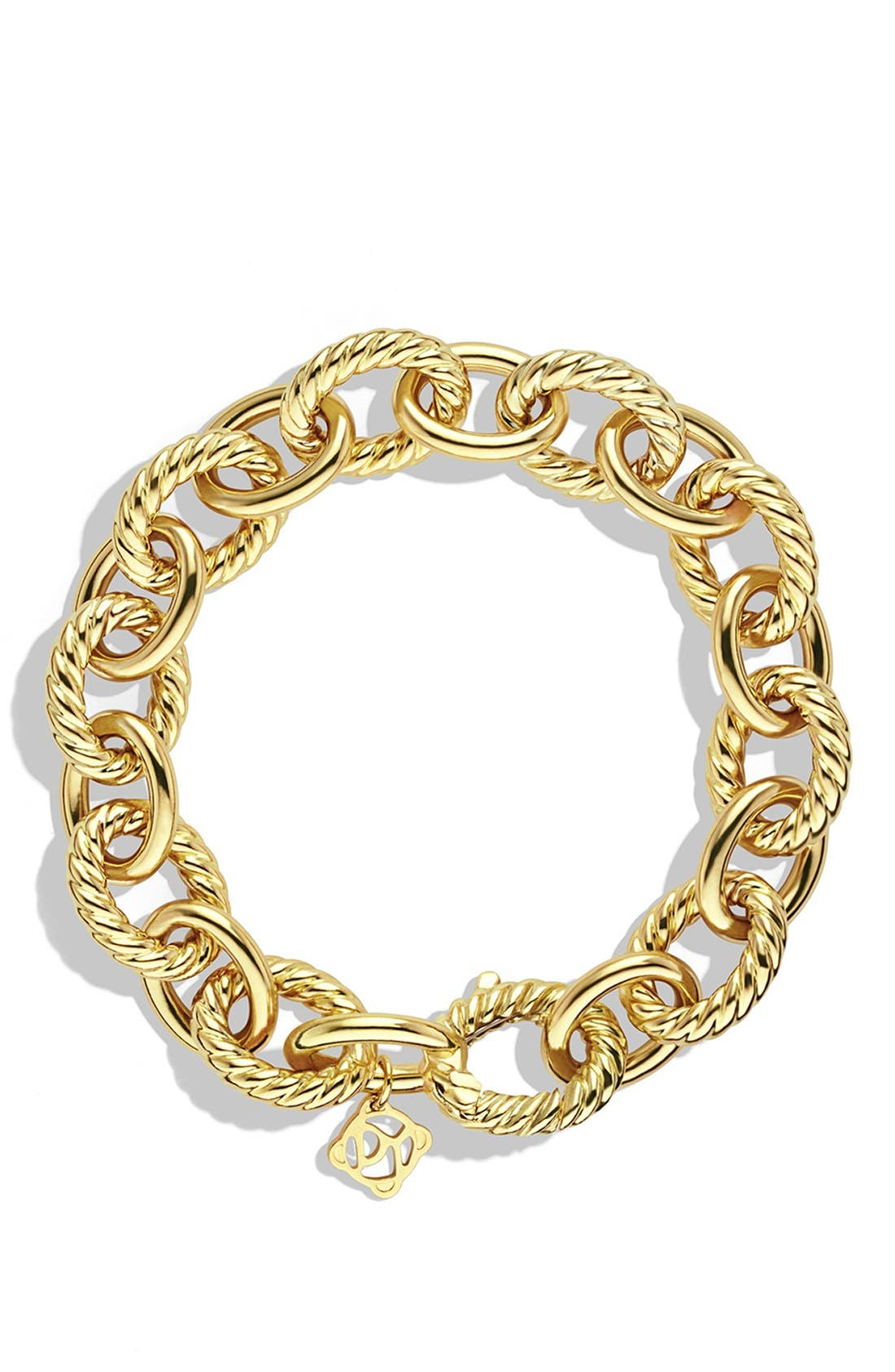 Alternate Image 2  - David Yurman 'Oval' Large Link Bracelet in Gold