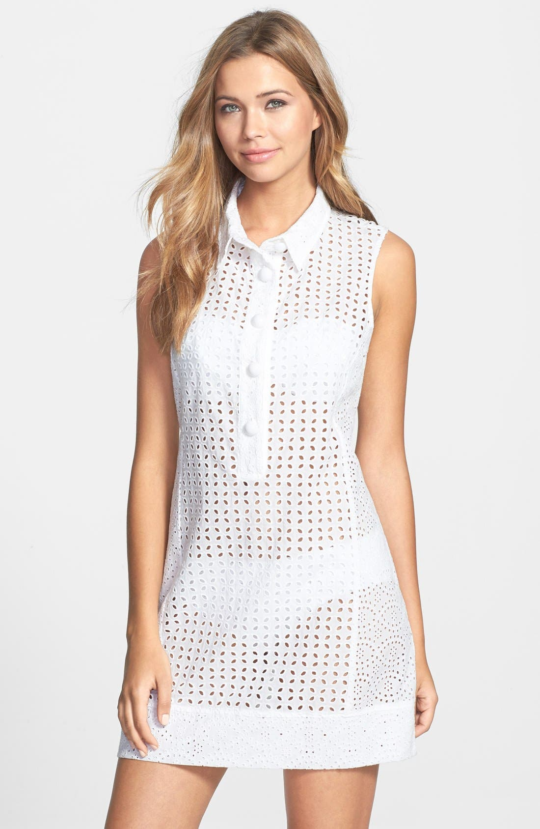 Main Image - Nanette Lepore Eyelet Cover-Up Dress