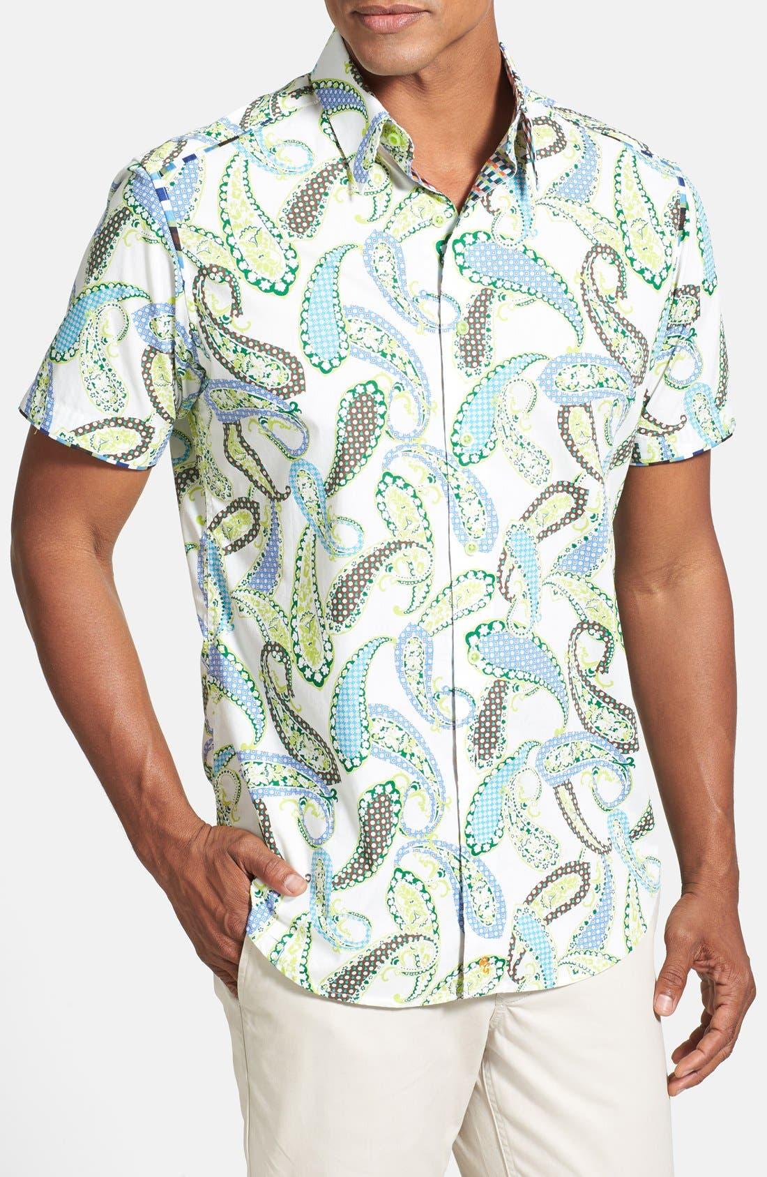 Alternate Image 1 Selected - Robert Graham 'Tomaso' Short Sleeve Paisley Sport Shirt