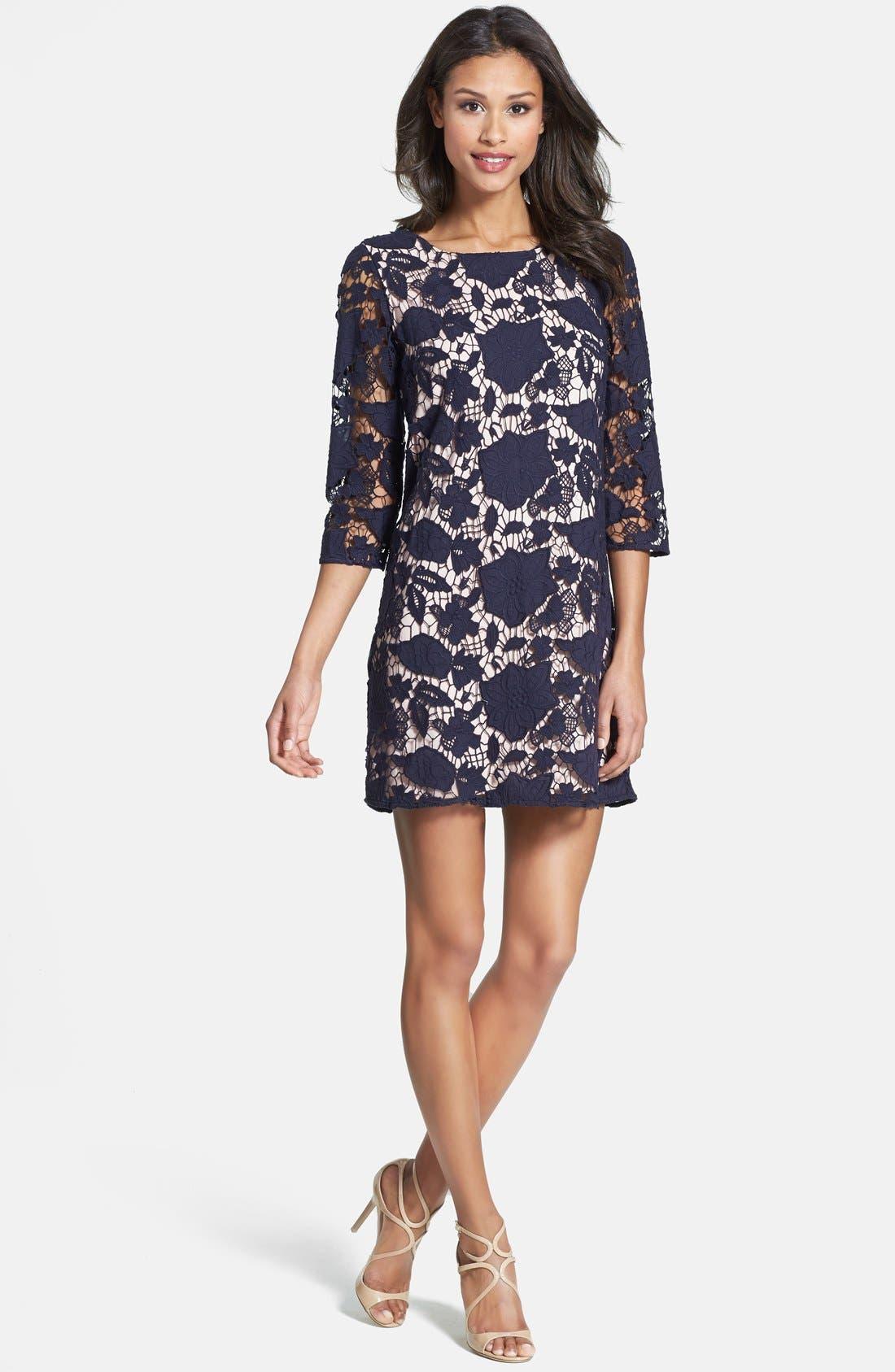 Alternate Image 1 Selected - ERIN erin fetherston 'Amaryllis' Floral Lace Shift Dress
