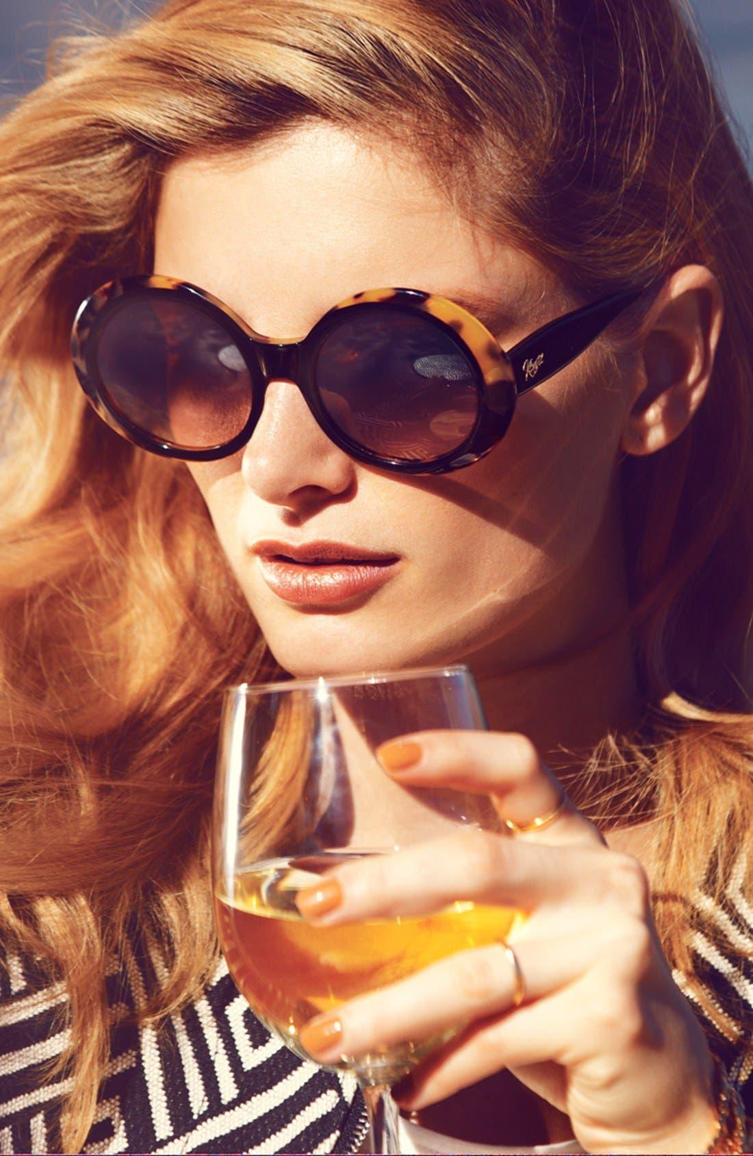 Alternate Image 2  - kensie 'Neve' 50mm Oversized Sunglasses