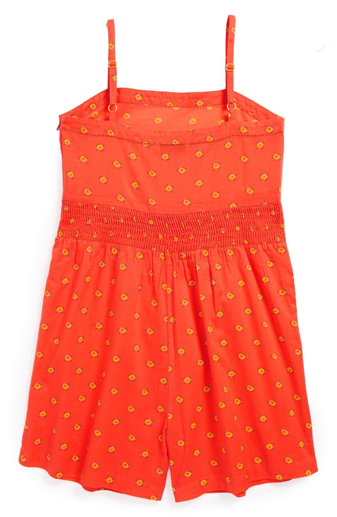 Alternate Image 2  - Stella McCartney Floral Print Cotton Romper (Toddler Girls, Little Girls & Big Girls)