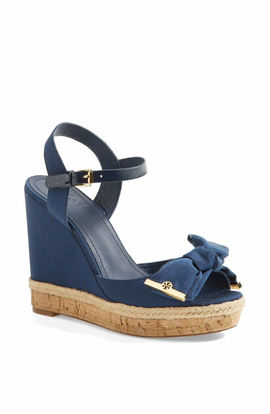 Alternate Image 1 Selected - Tory Burch 'Penny' Wedge Sandal