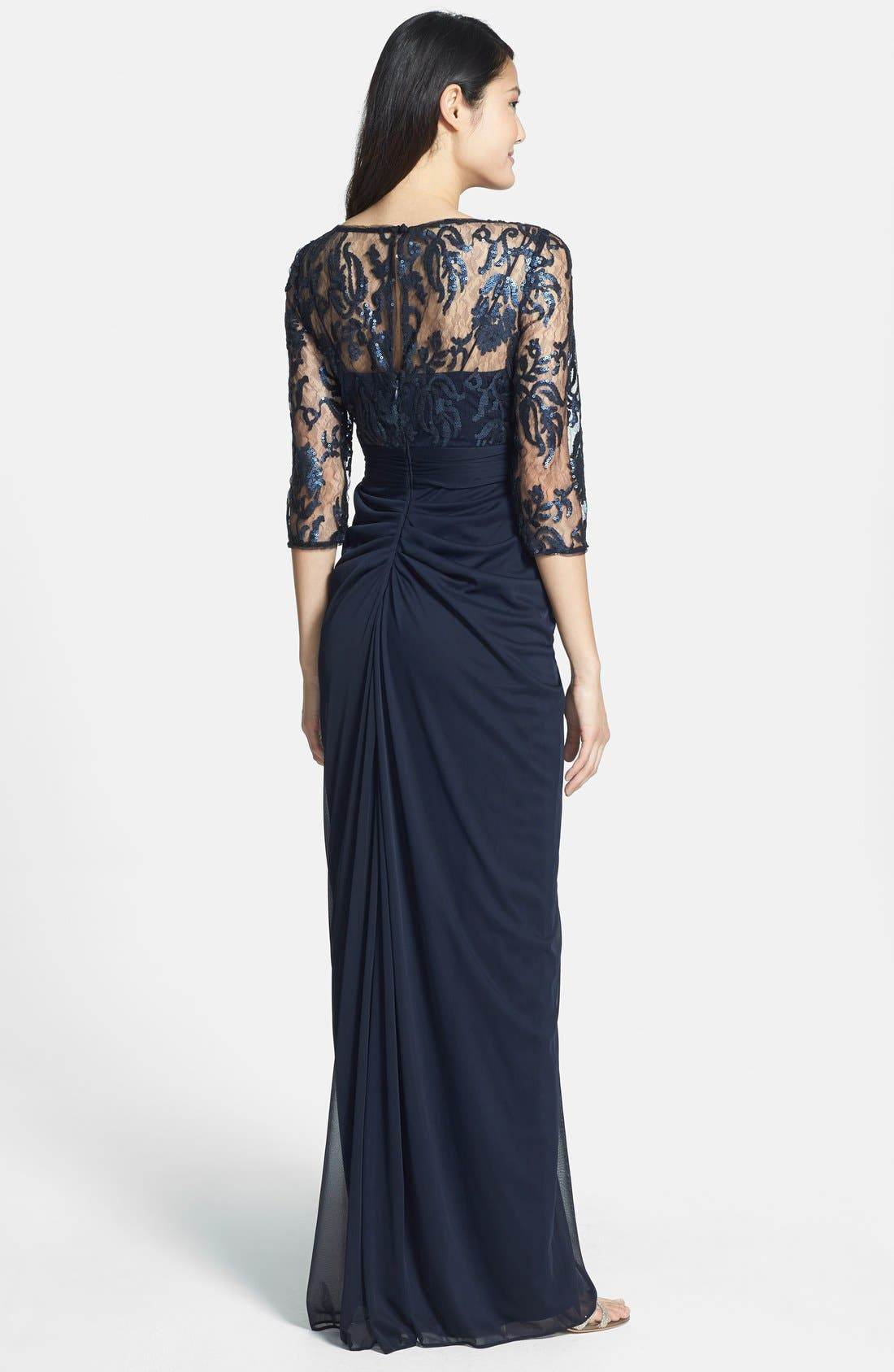 Alternate Image 2  - Adrianna Papell Embellished Lace & Tulle Gown