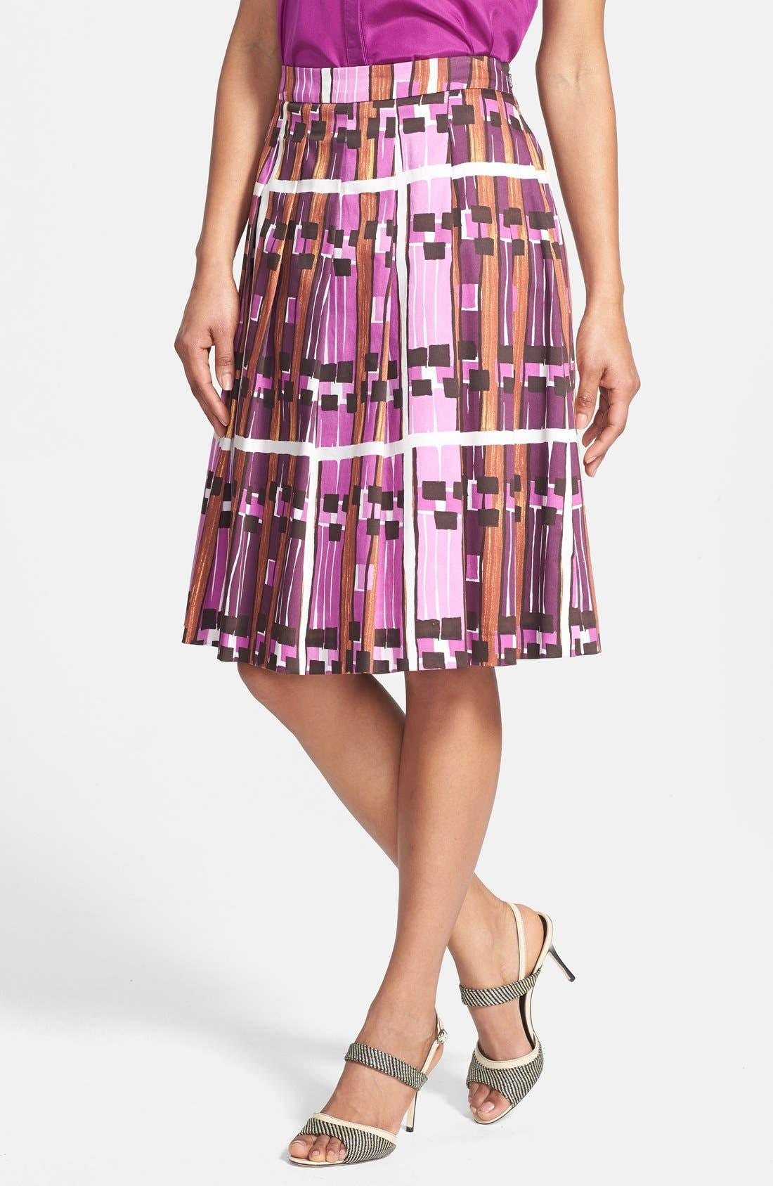 Alternate Image 1 Selected - Weekend Max Mara 'Borgia' Print Skirt