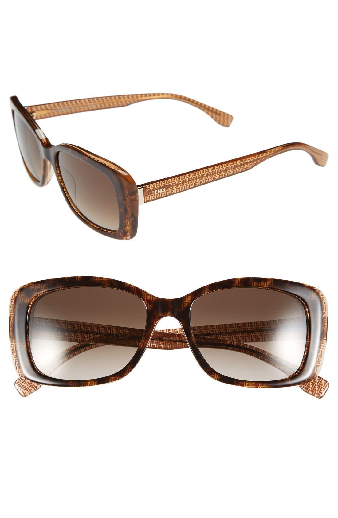 Alternate Image 1 Selected - Fendi 53mm Retro Sunglasses