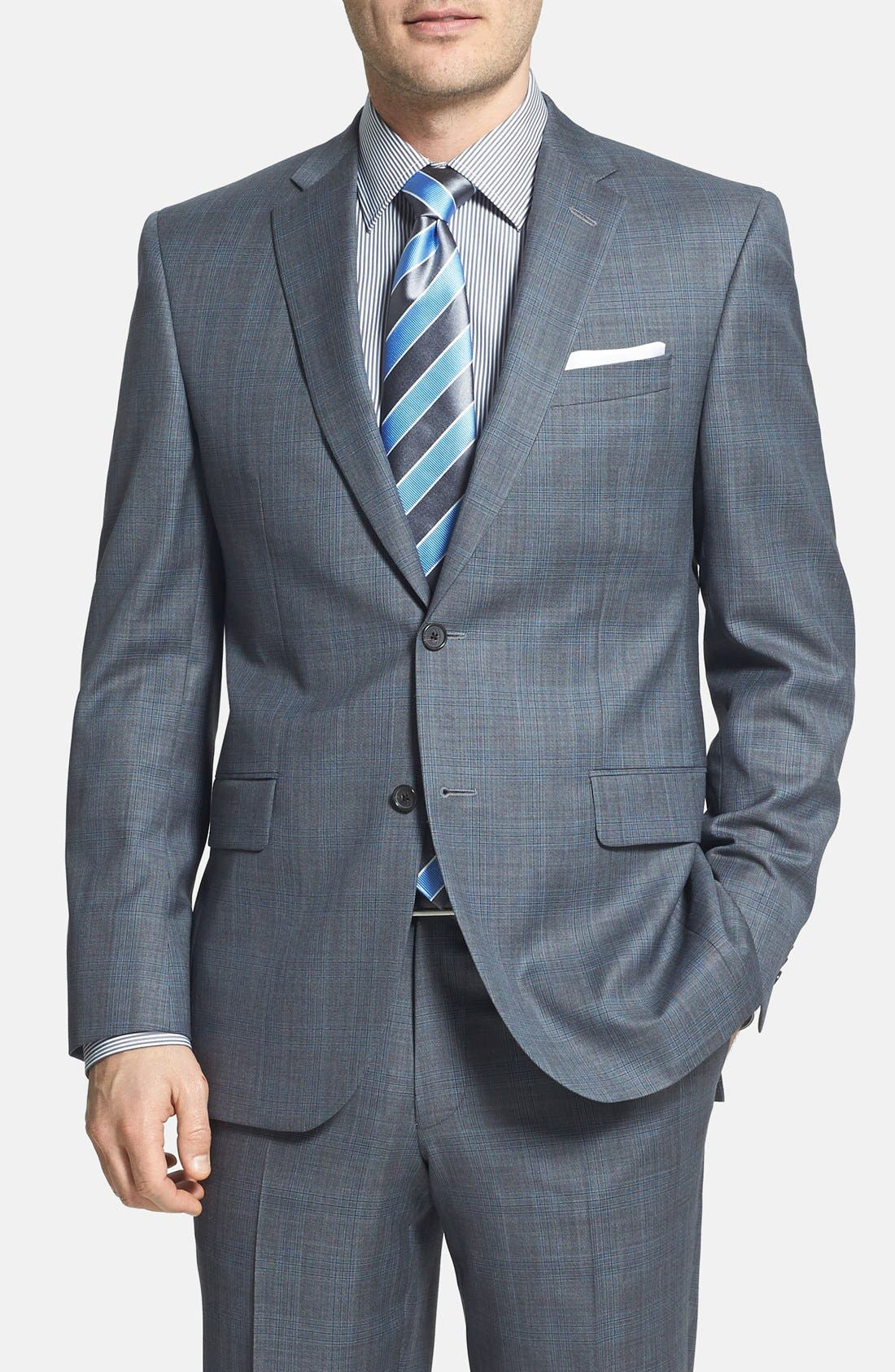 Alternate Image 3  - David Donahue Classic Fit Wool Suit