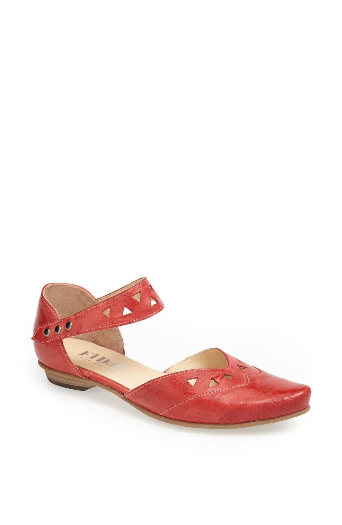 Main Image - Fidji Ankle Strap d'Orsay Flat